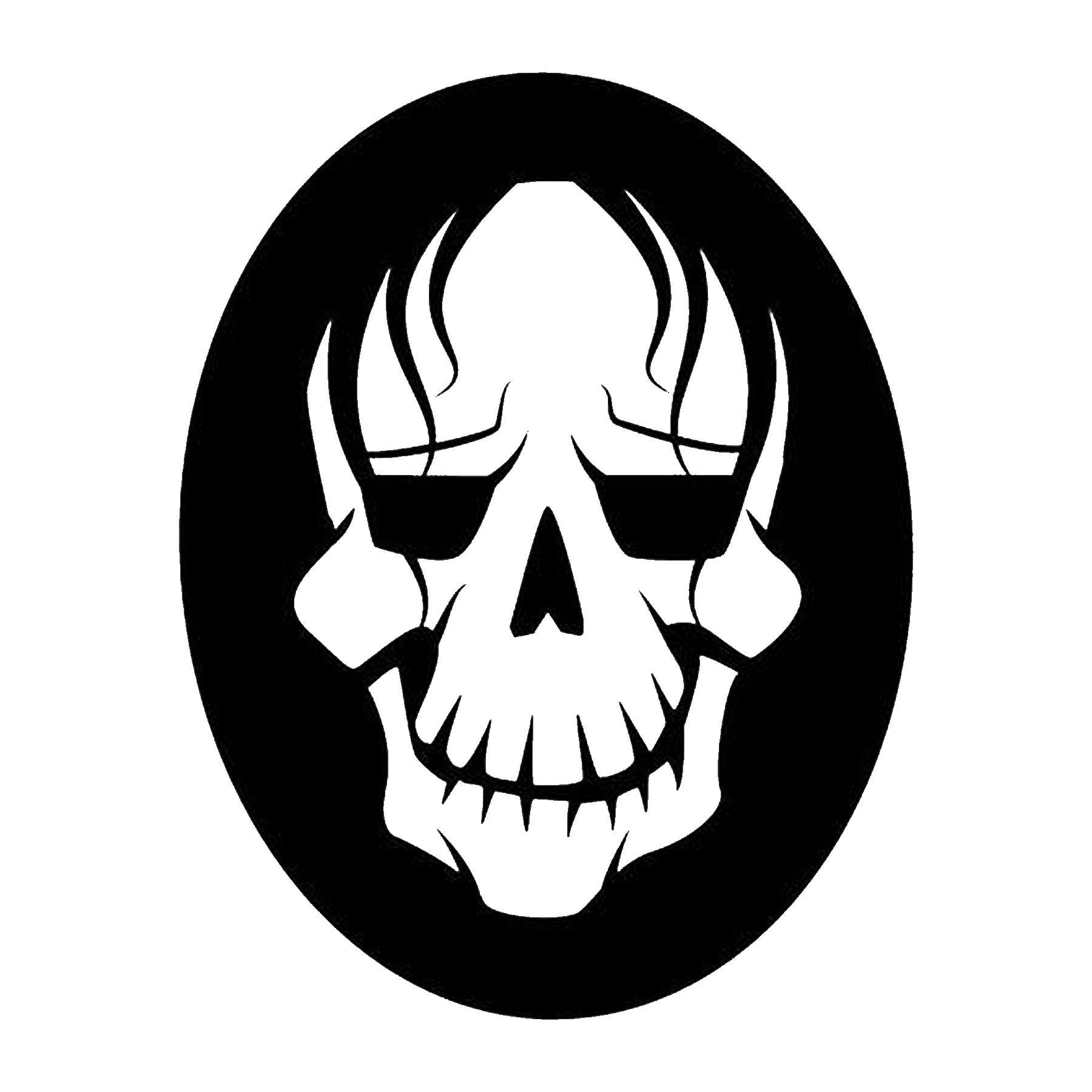 CAD$6.99 - Skull Vinyl Decal - various sizes and colors - colours