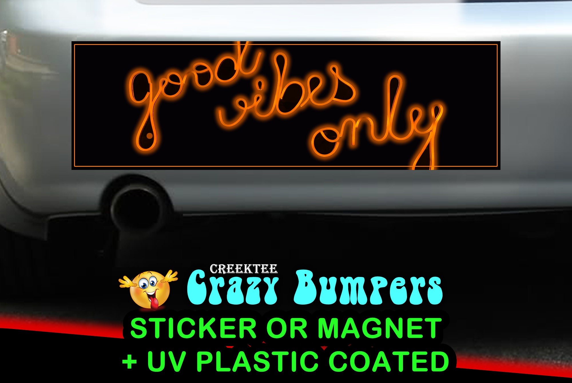 CAD$7.99 - Good Vibes Only 10 x 3 Bumper Sticker or Magnet - Custom changes and orders welcomed!