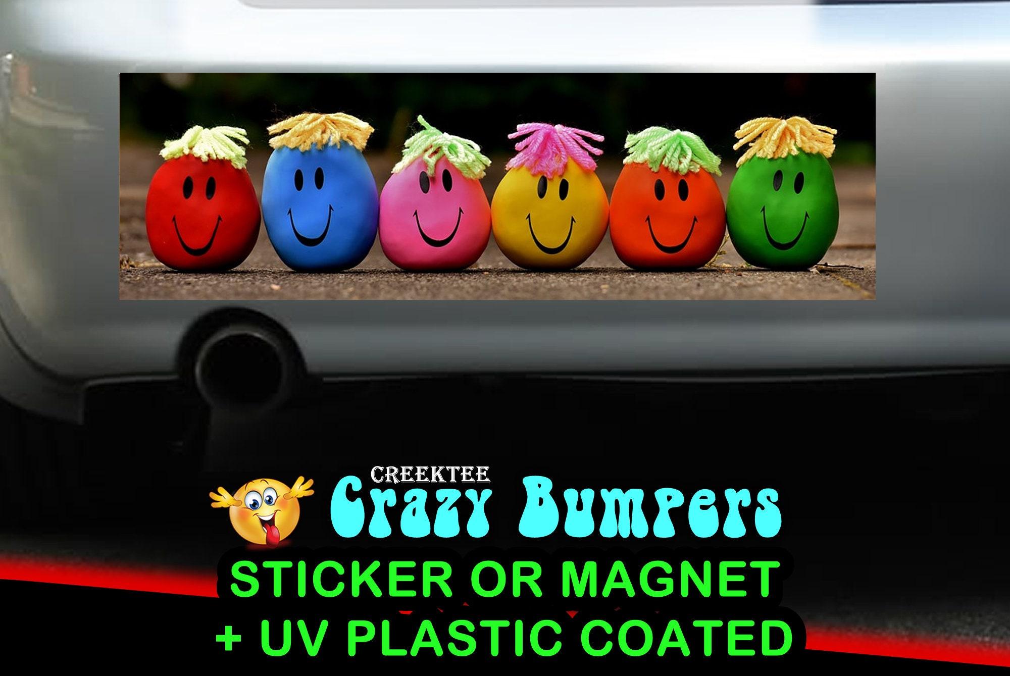 CAD$9.74 - Laughing Emojis 10 x 3 Bumper Sticker or Magnetic Bumper Sticker Available