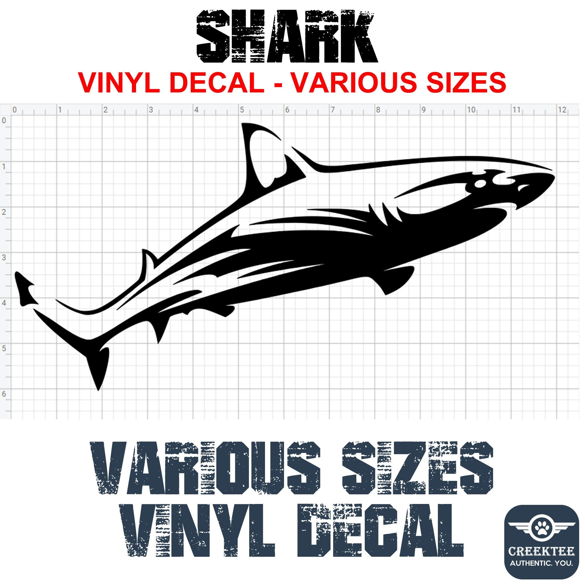 CAD$8.69 - Shark vinyl decal in various sizes or colors