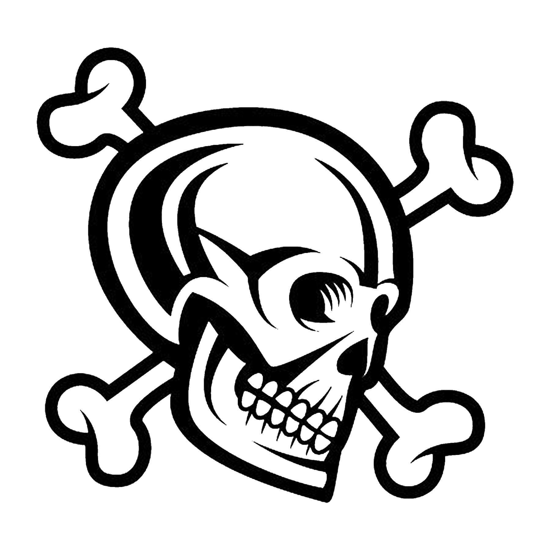 CAD$6.99 - Skull Cross Bones Vinyl Decal - various sizes and colors - colours