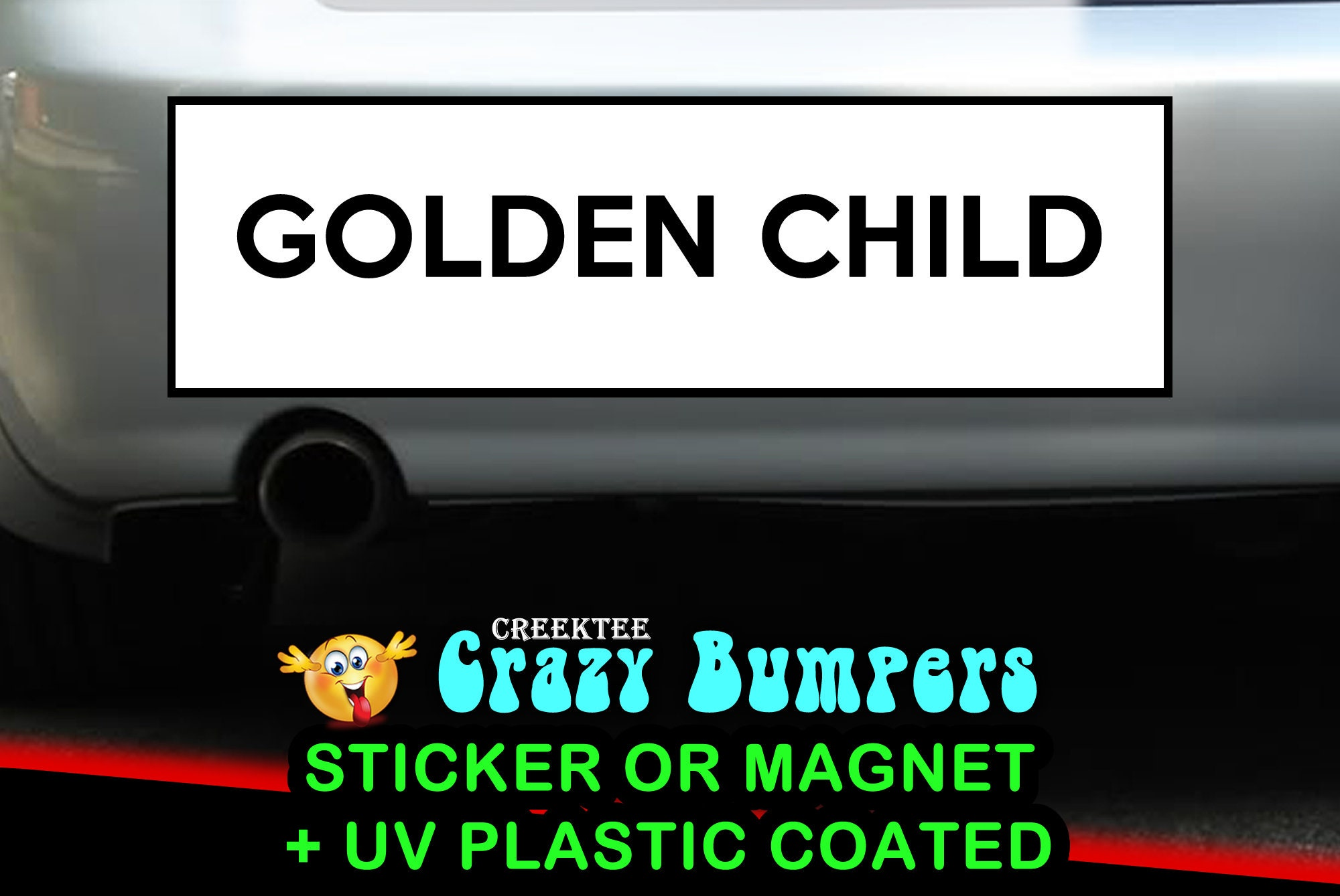 CAD$9.74 - Golden Child  10 x 3 Bumper Sticker or Magnetic Bumper Sticker Available