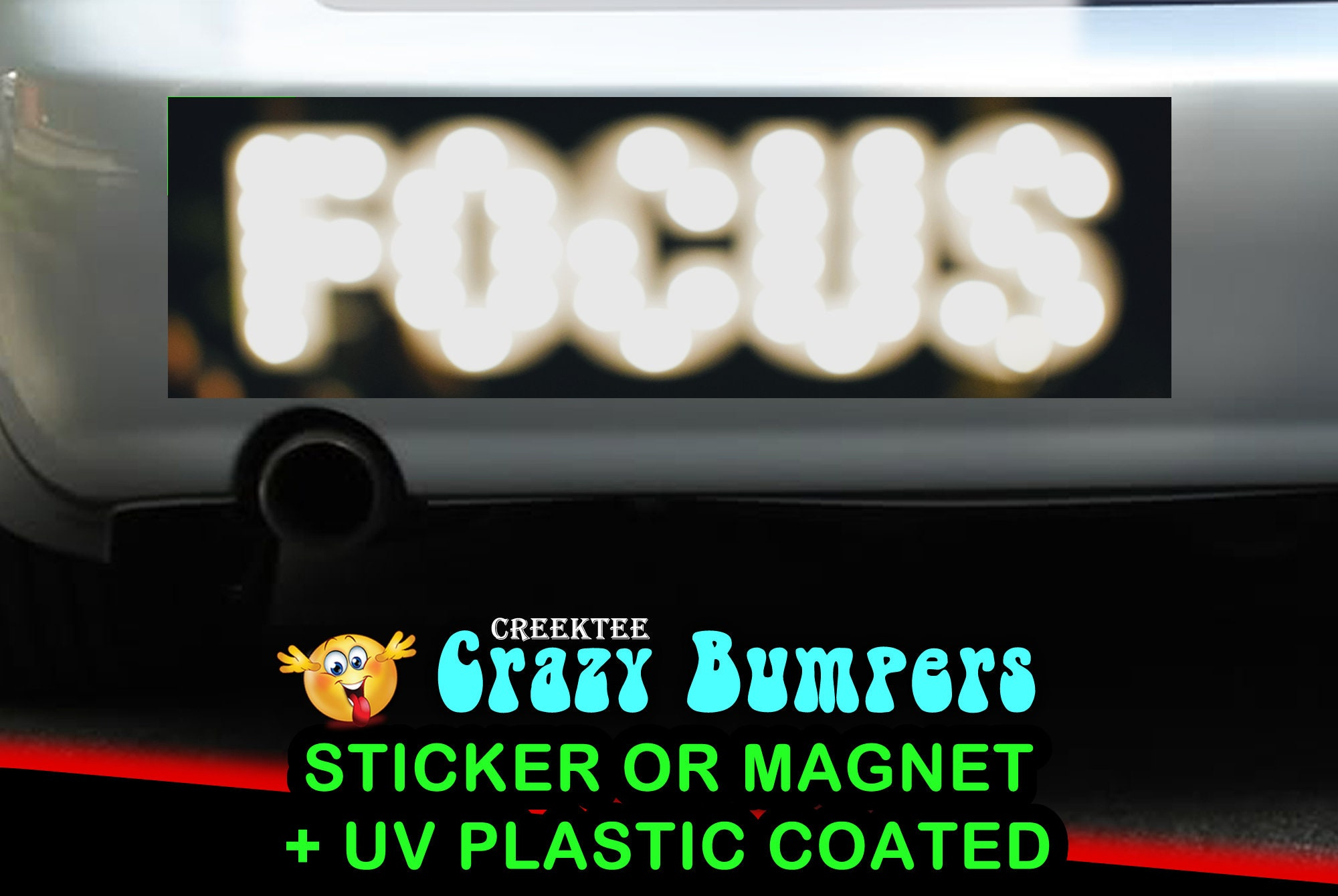 CAD$7.99 - FOCUS 10 x 3 Bumper Sticker or Magnet - Custom changes and orders welcomed!