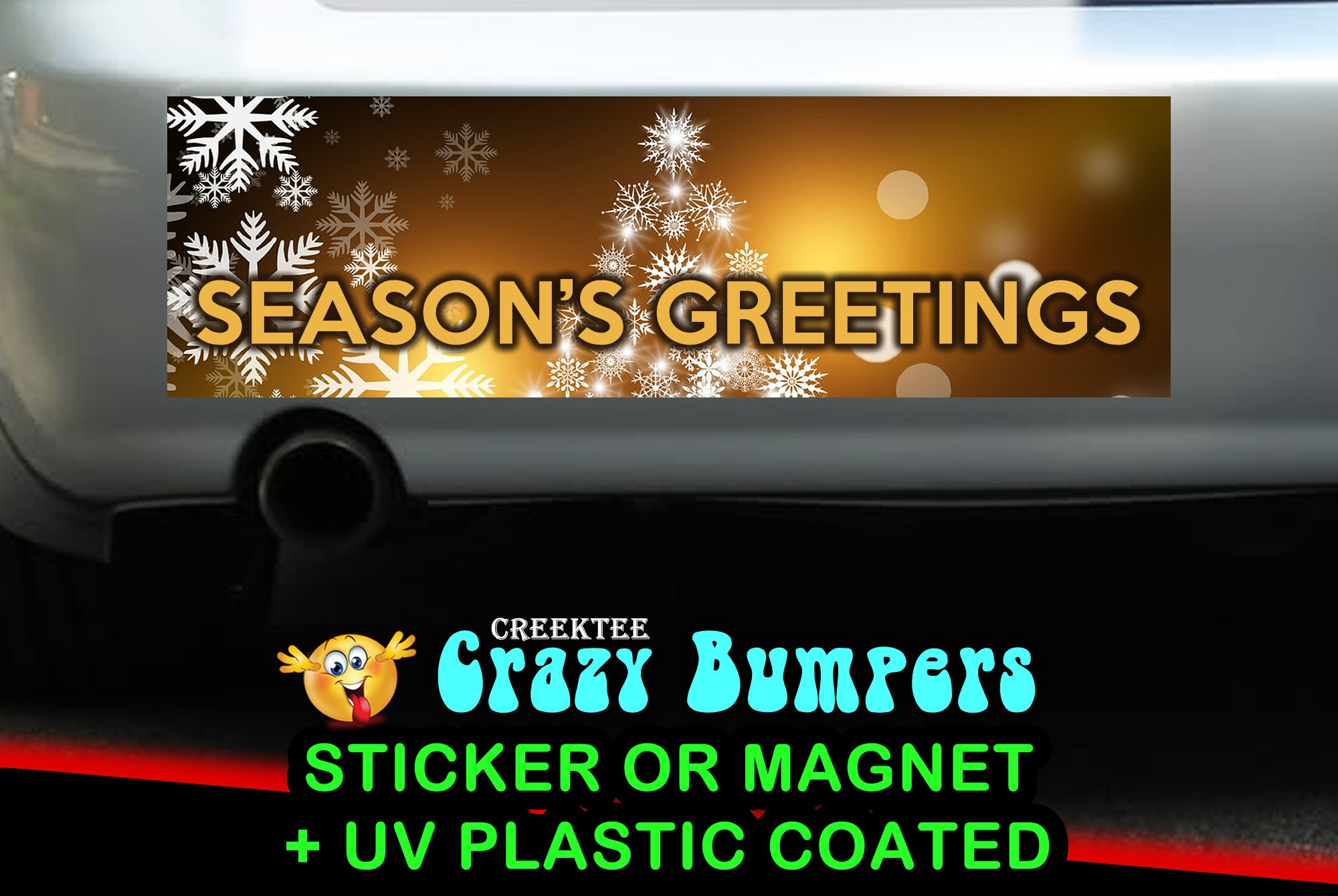 CAD$9.74 - Seasons Greetings 10 x 3 Bumper Sticker or Magnetic Bumper Sticker Available