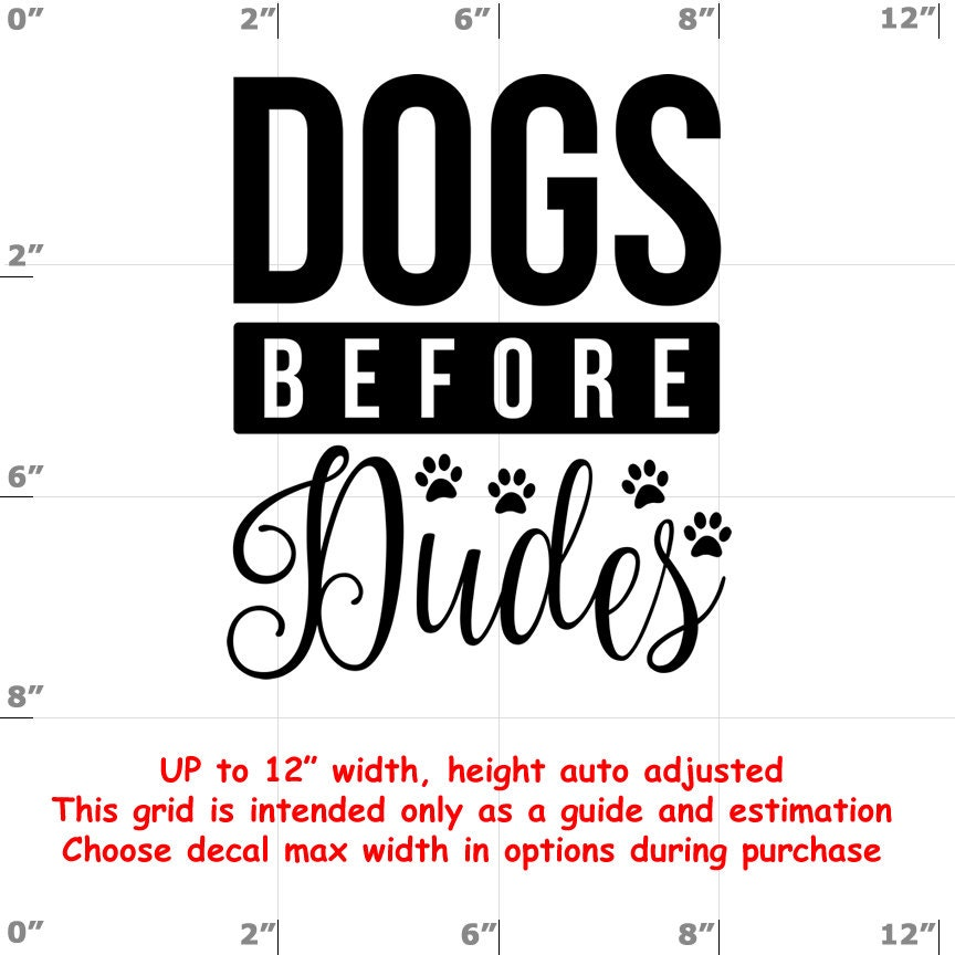 CAD$8.69 - dogs before dudes Dog vinyl decal - Dog Decal