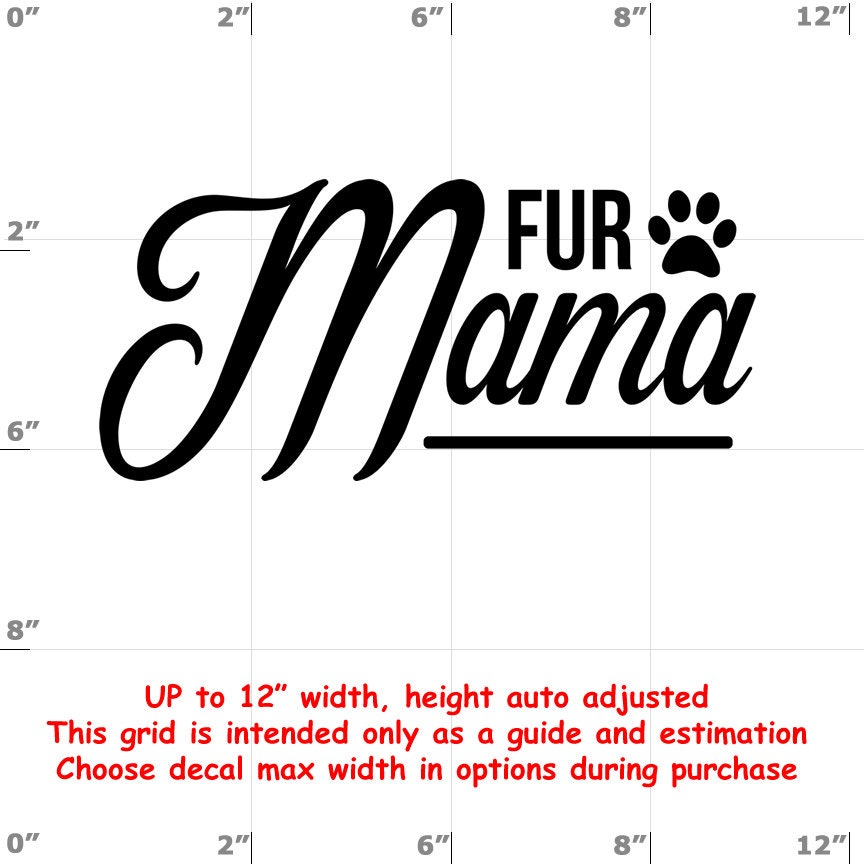 CAD$8.99 - fur mama Dog vinyl decal - Dog Decal