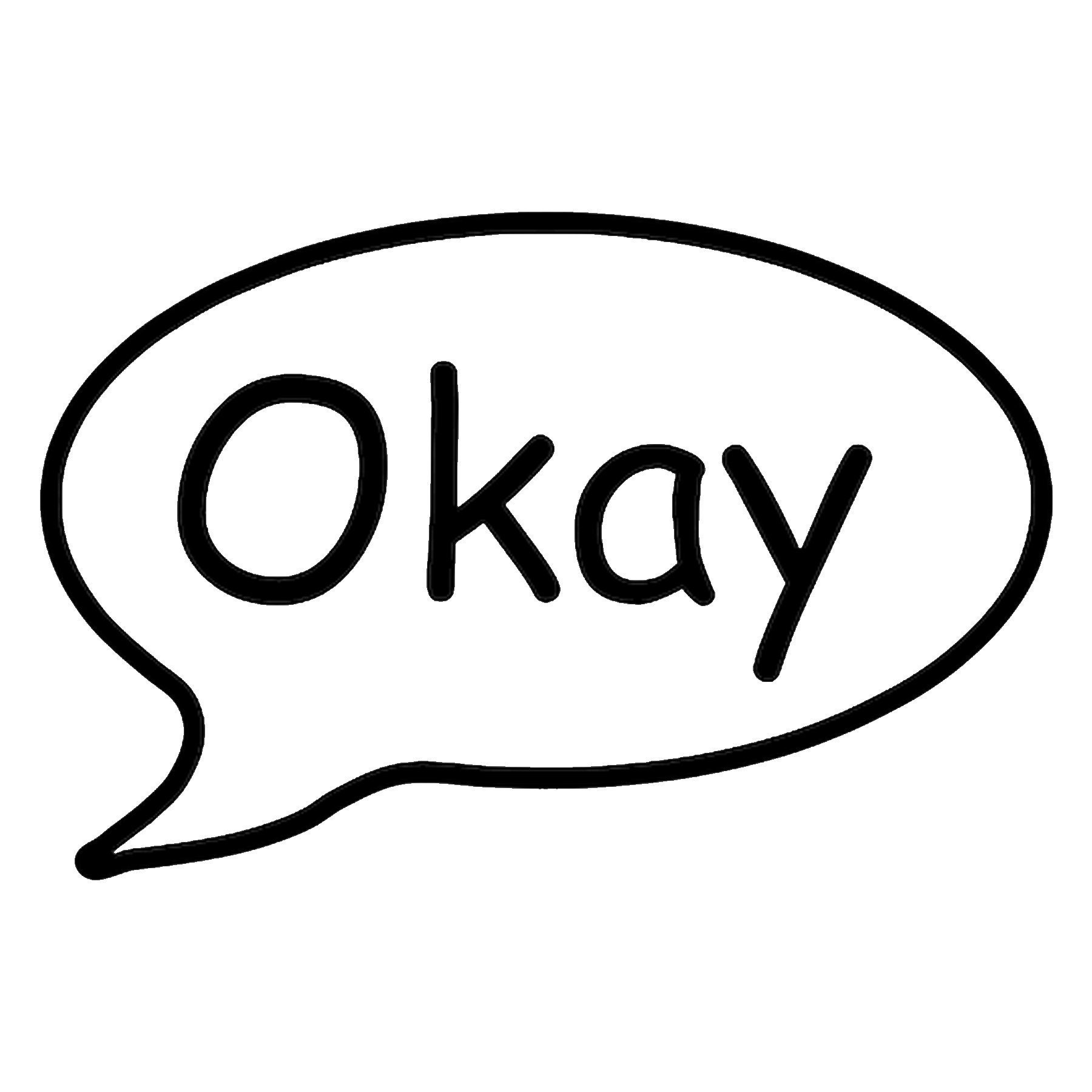 CAD$8.99 - Okay Call out Vinyl Decal - various sizes and colors - colours