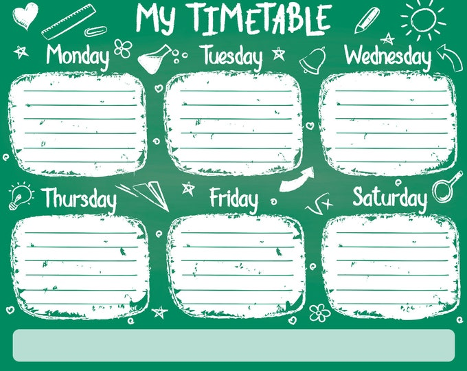 Fridge weekly planner magnet 10 inch wide by 8 inch high flexible flat strong magnet easy to clean 4.7ml coating