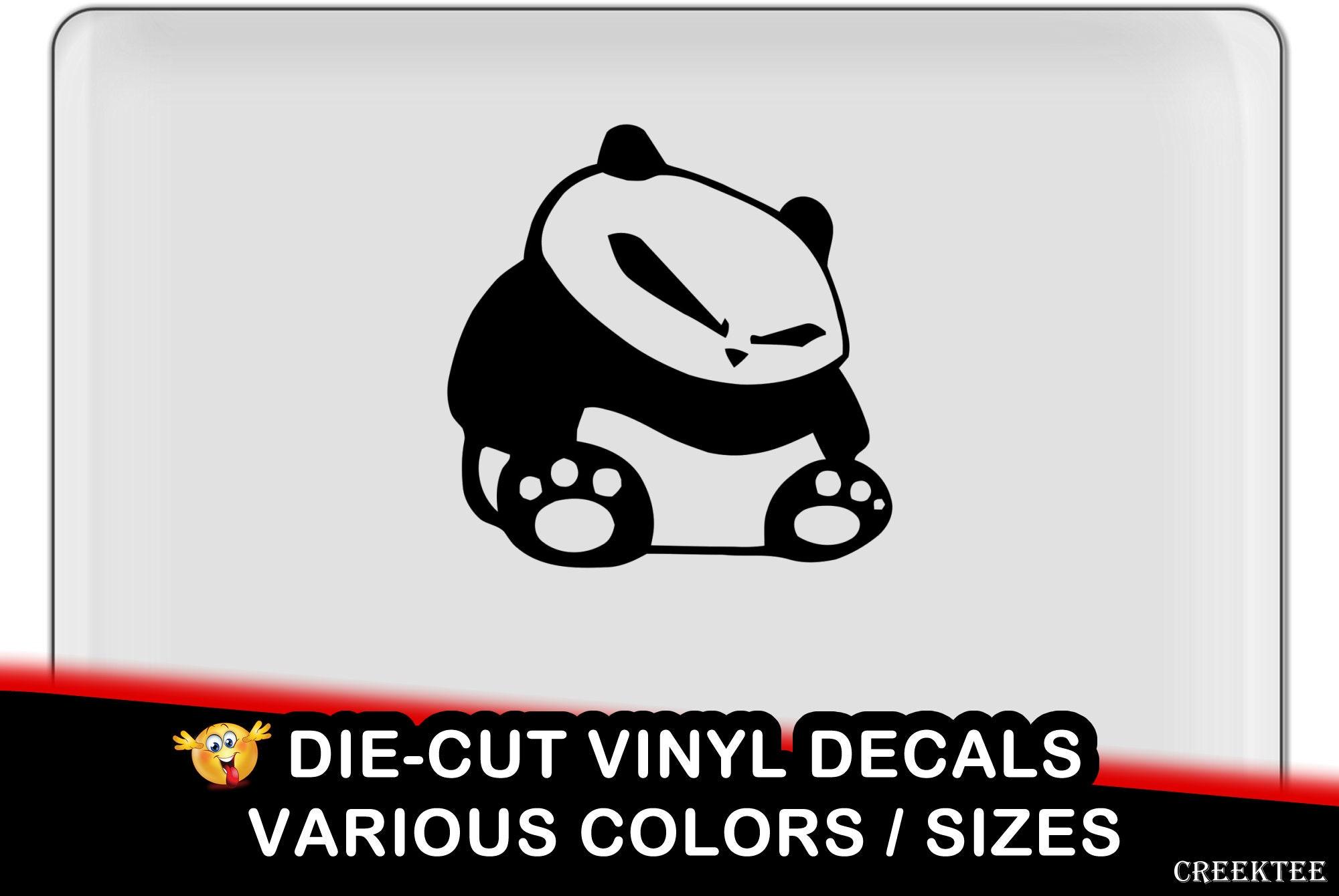 Panda jdm Vinyl Decal - fun vinyl decal in various colors