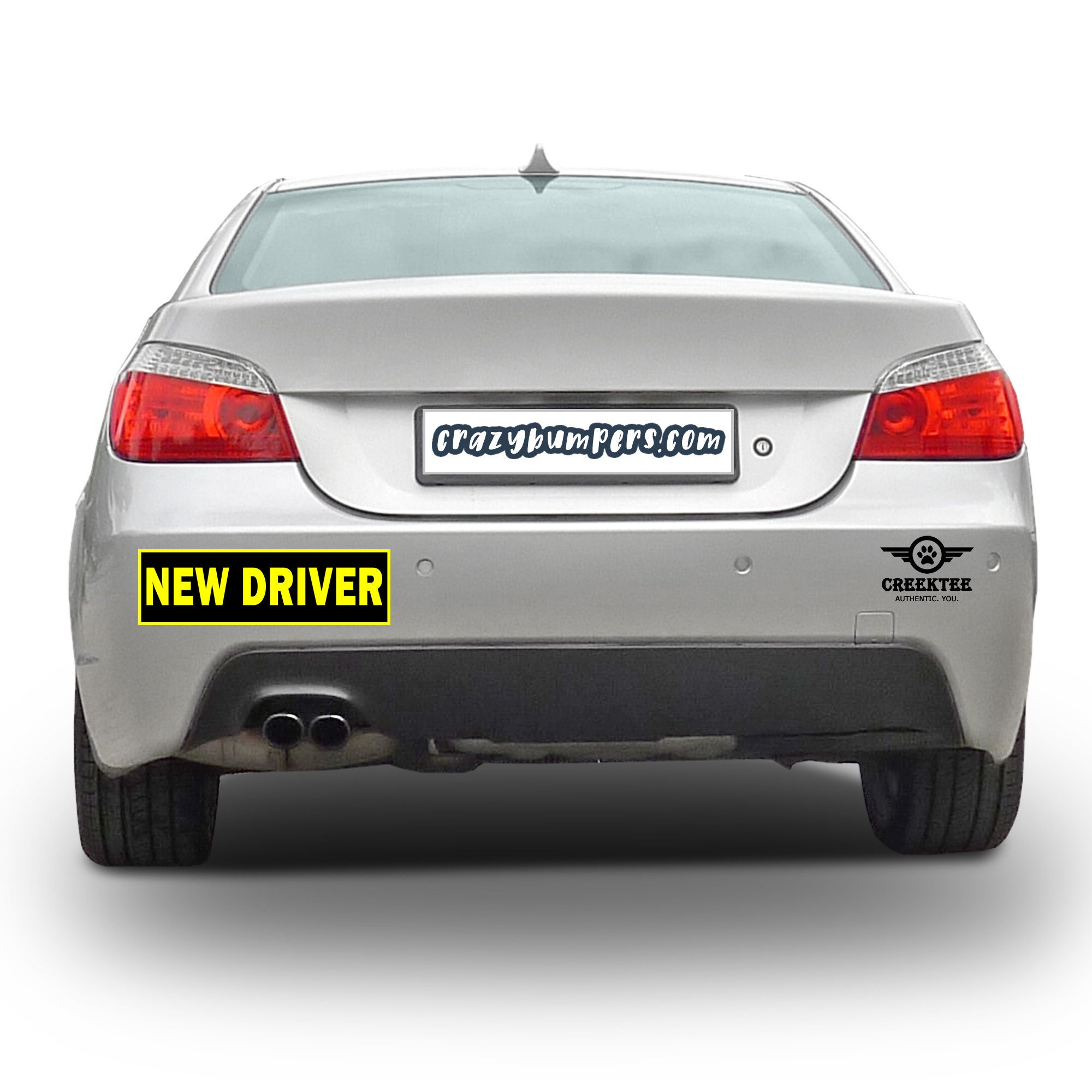 CAD$7.99 - NEW DRIVER 10 x 3 Bumper Sticker or Magnetic Bumper Available - reflective border option