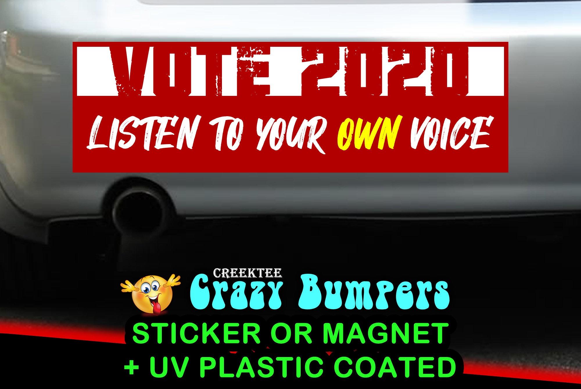 MAGNET WHEN WE ALL VOTE Magnetic Vinyl Car Bumper Sticker 5