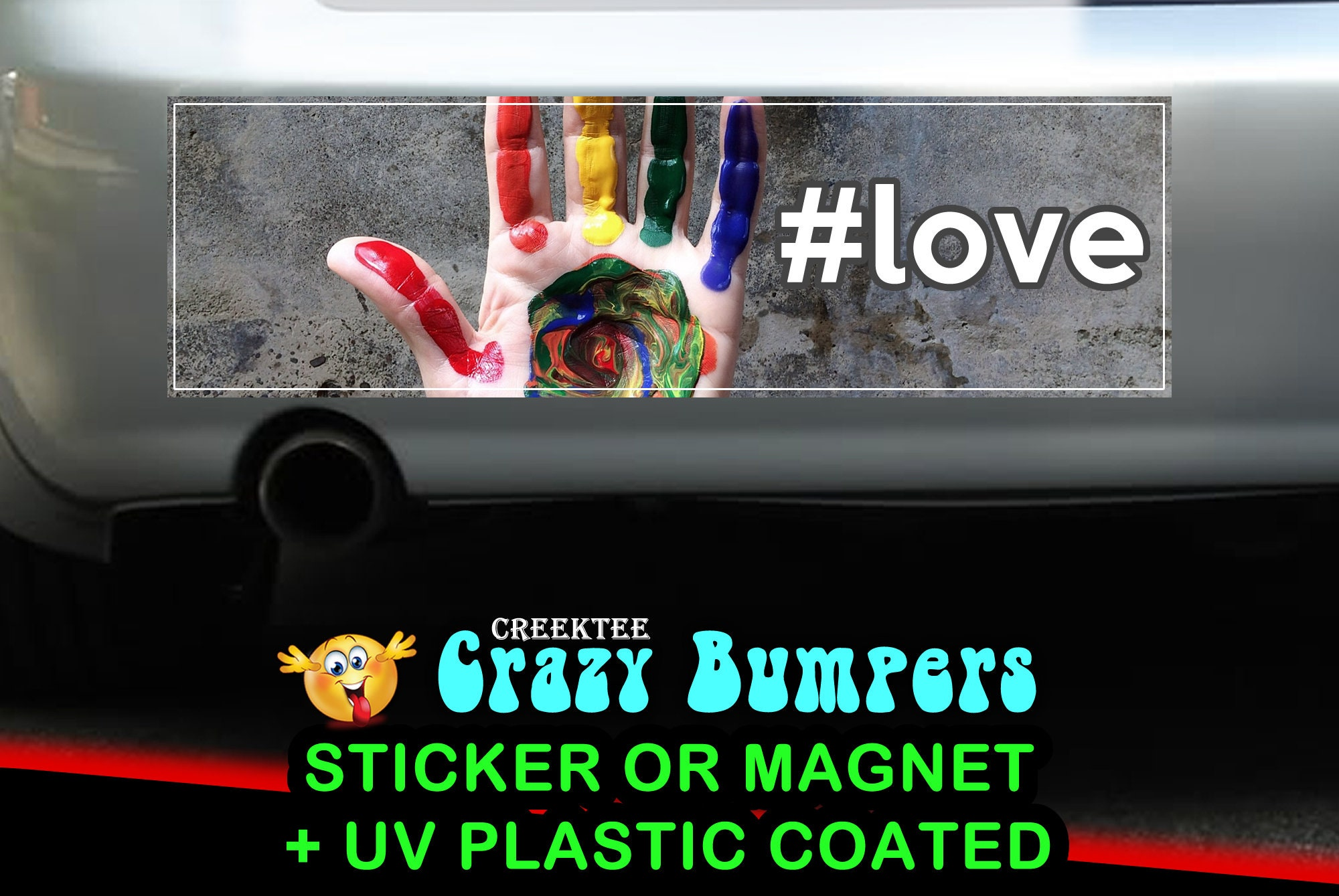 CAD$7.99 - Pride Rainbow Love 10 x 3 Bumper Sticker or Magnetic Bumper Sticker Available
