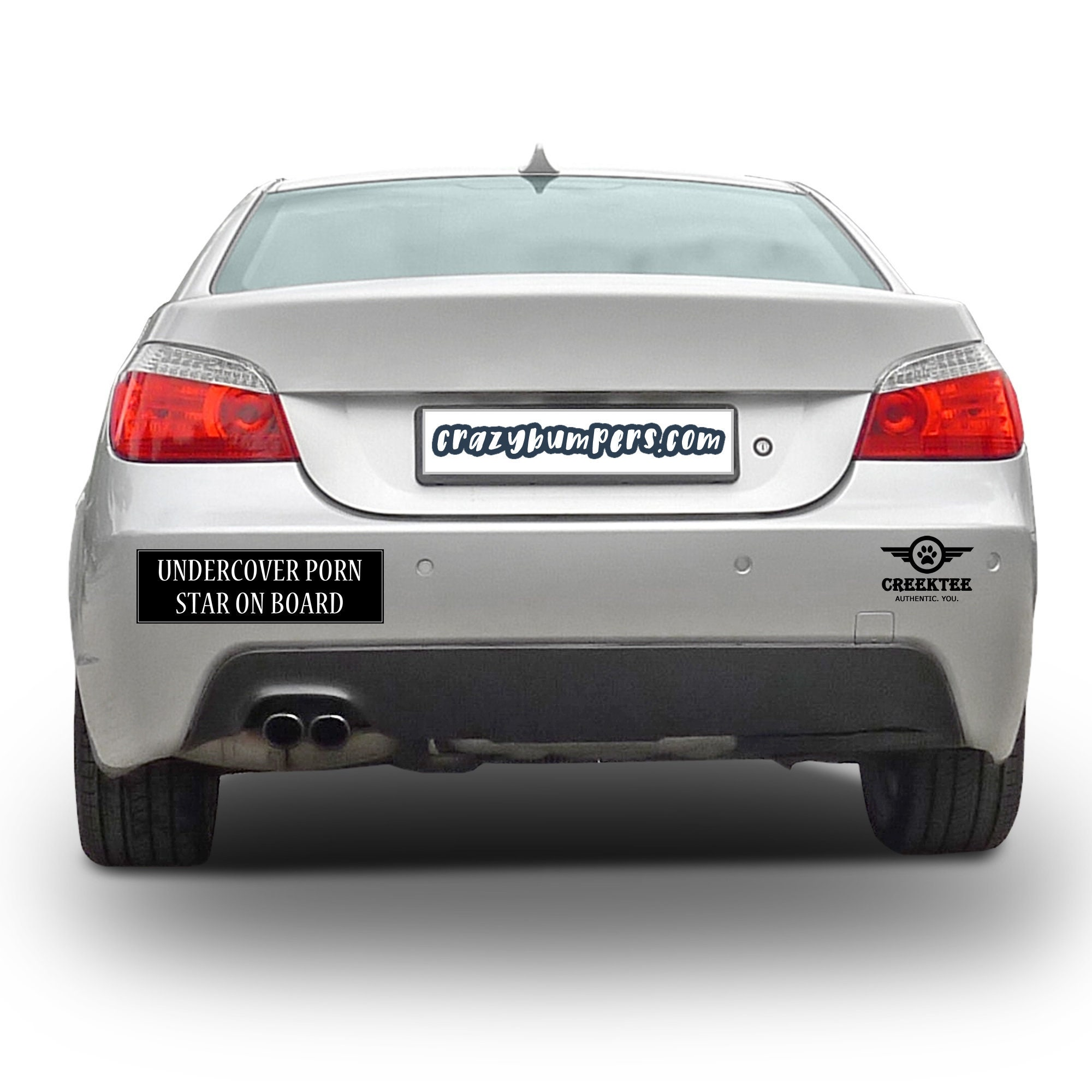 Undercover Porn Star On Board 10 x 3 Bumper Sticker - Custom changes and orders welcomed!