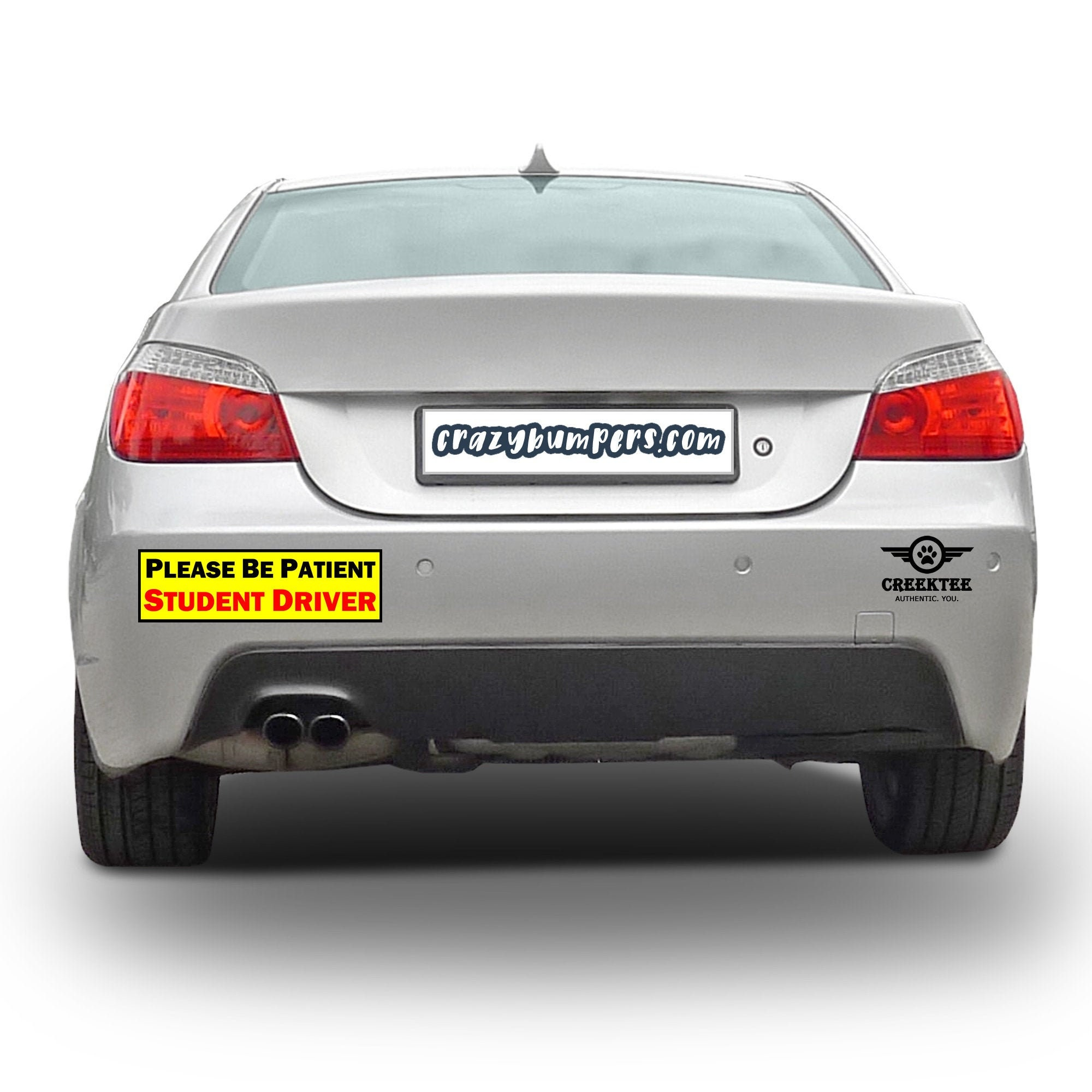 CAD$9.99 - Please Be Patient Student Driver Bumper Sticker 10 x 3 Bumper Sticker or Magnetic Bumper Sticker Available