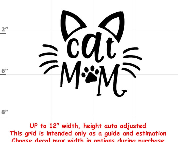 cat mom Vinyl  Funny Cat Decal