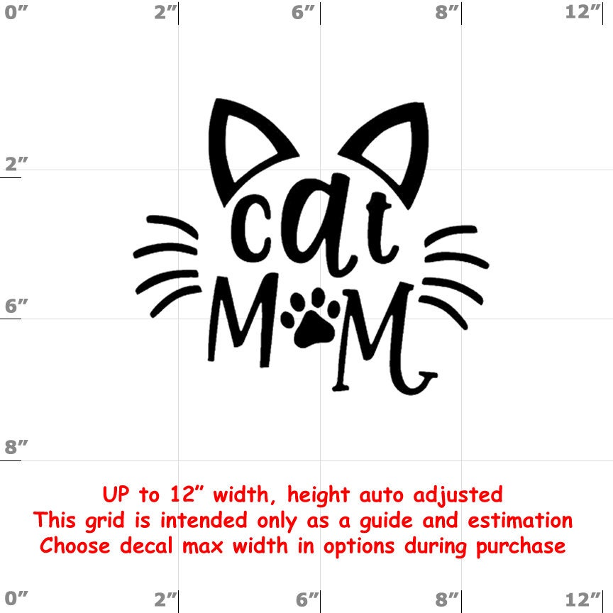 CAD$8.69 - cat mom Vinyl  Funny Cat Decal