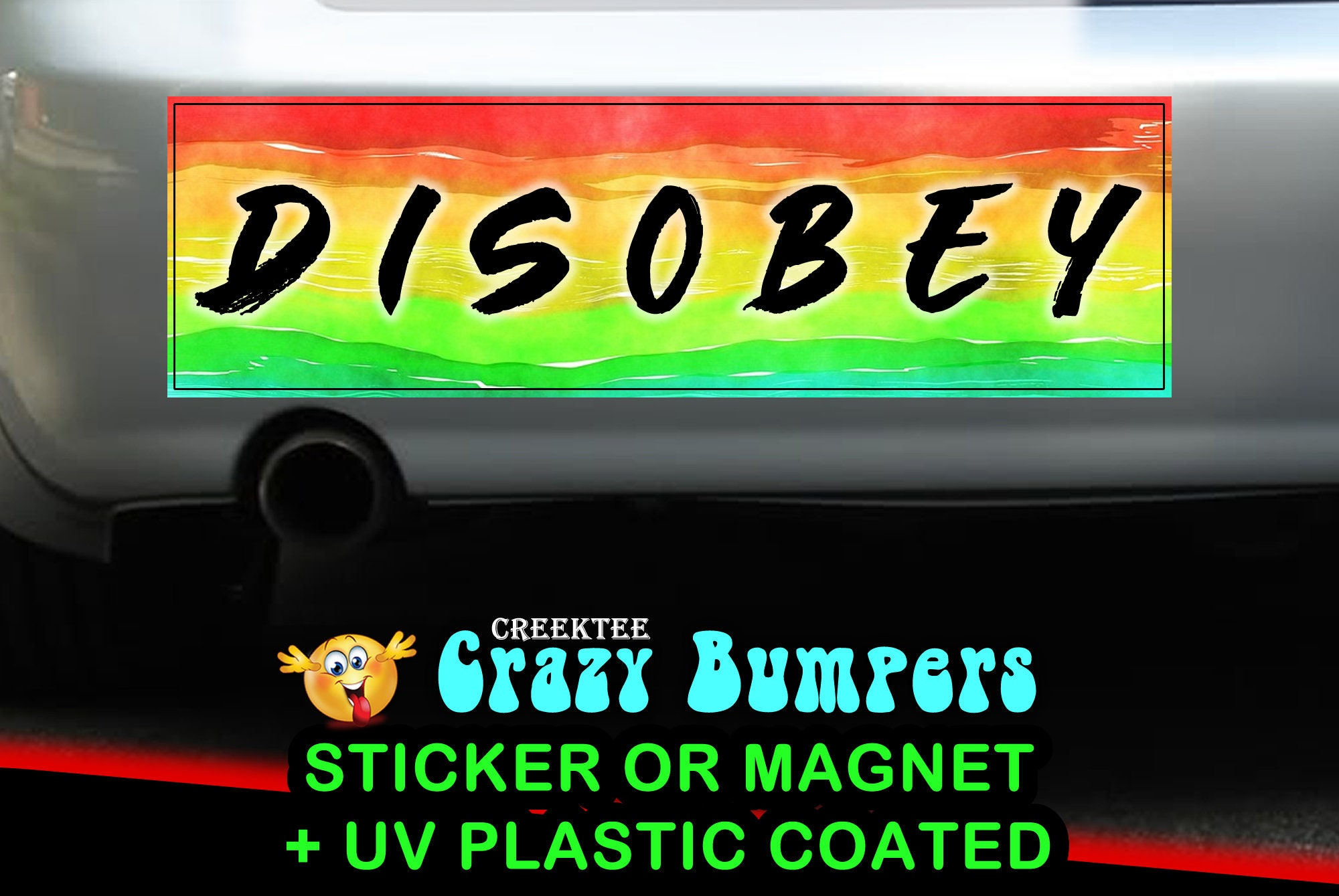 CAD$7.99 - Disobey 10 x 3 Bumper Sticker or Magnetic Bumper Sticker Available