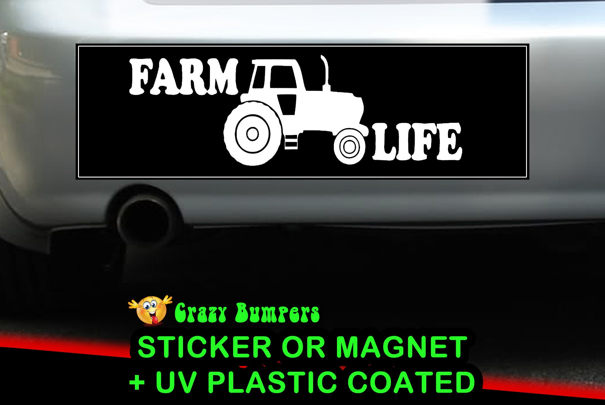 CAD$7.99 - Farm Life Sticker 10 x 3 Bumper Sticker or Magnetic Bumper Sticker Available