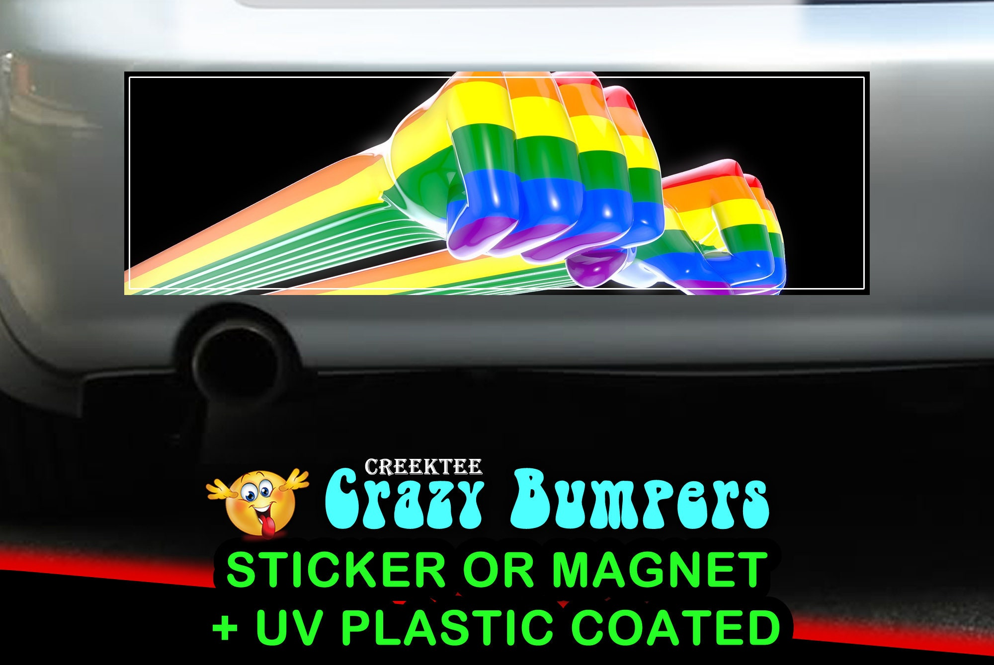 CAD$9.74 - LGBT 10 x 3 Bumper Sticker or Magnetic Bumper Sticker Available