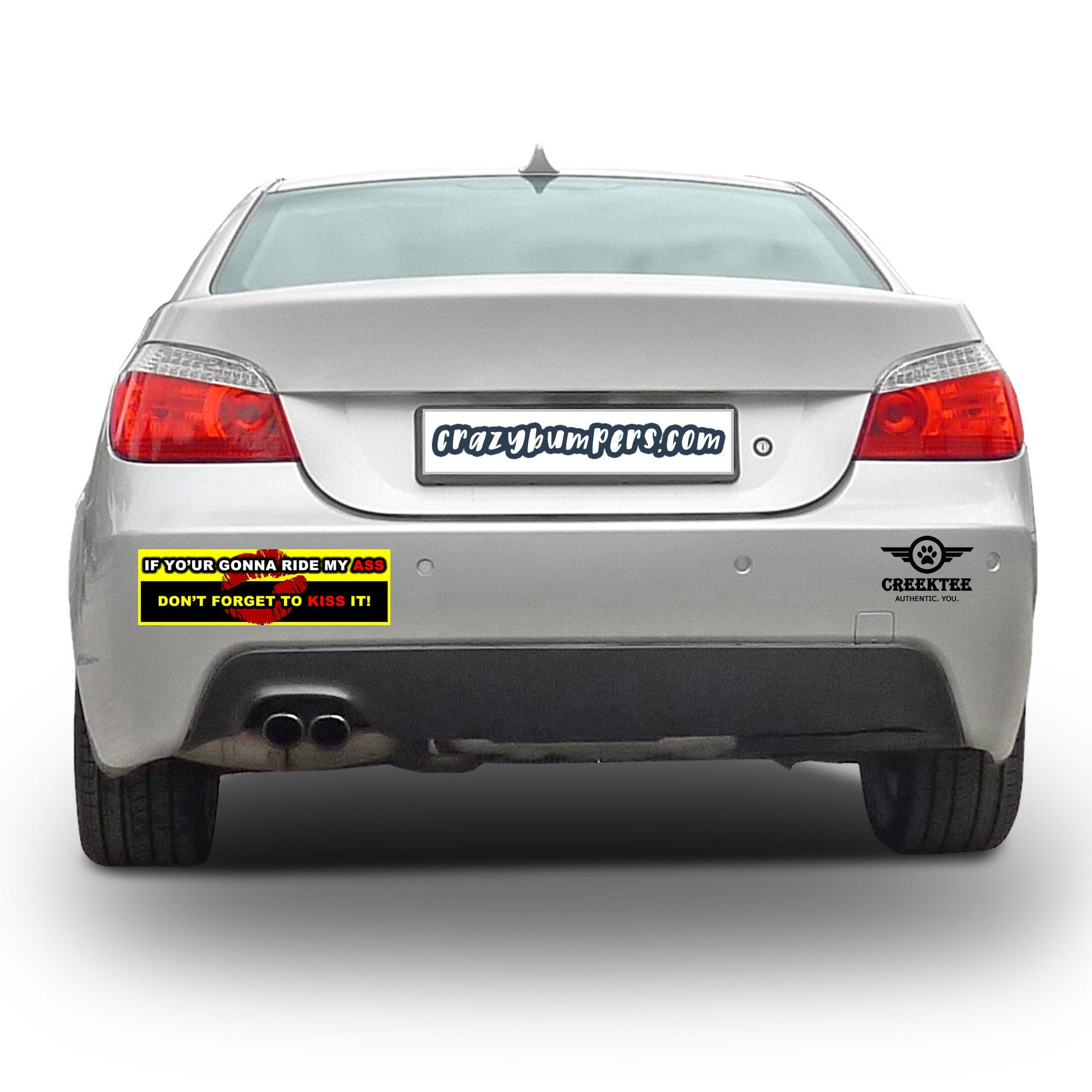 CAD$9.74 - If your going to ride my ass don't forget to kiss it! 10 x 3 Bumper Sticker - Custom changes and orders welcomed!