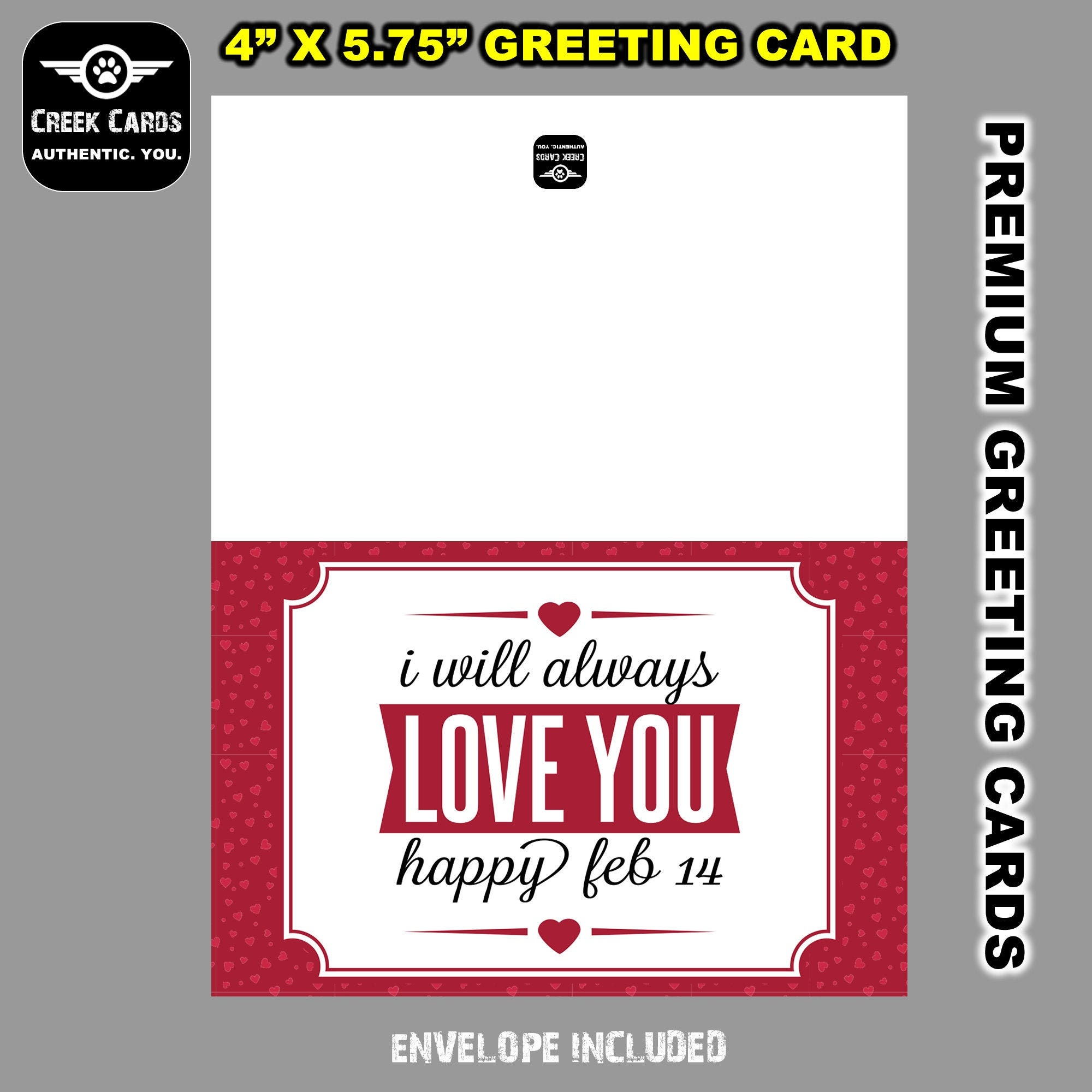 CAD$9.99 - Valentines Day Premium Greeting Card Triple Layer with Laminate Coating. 5.25-5.5 inches high by 4-4.25 inches wide