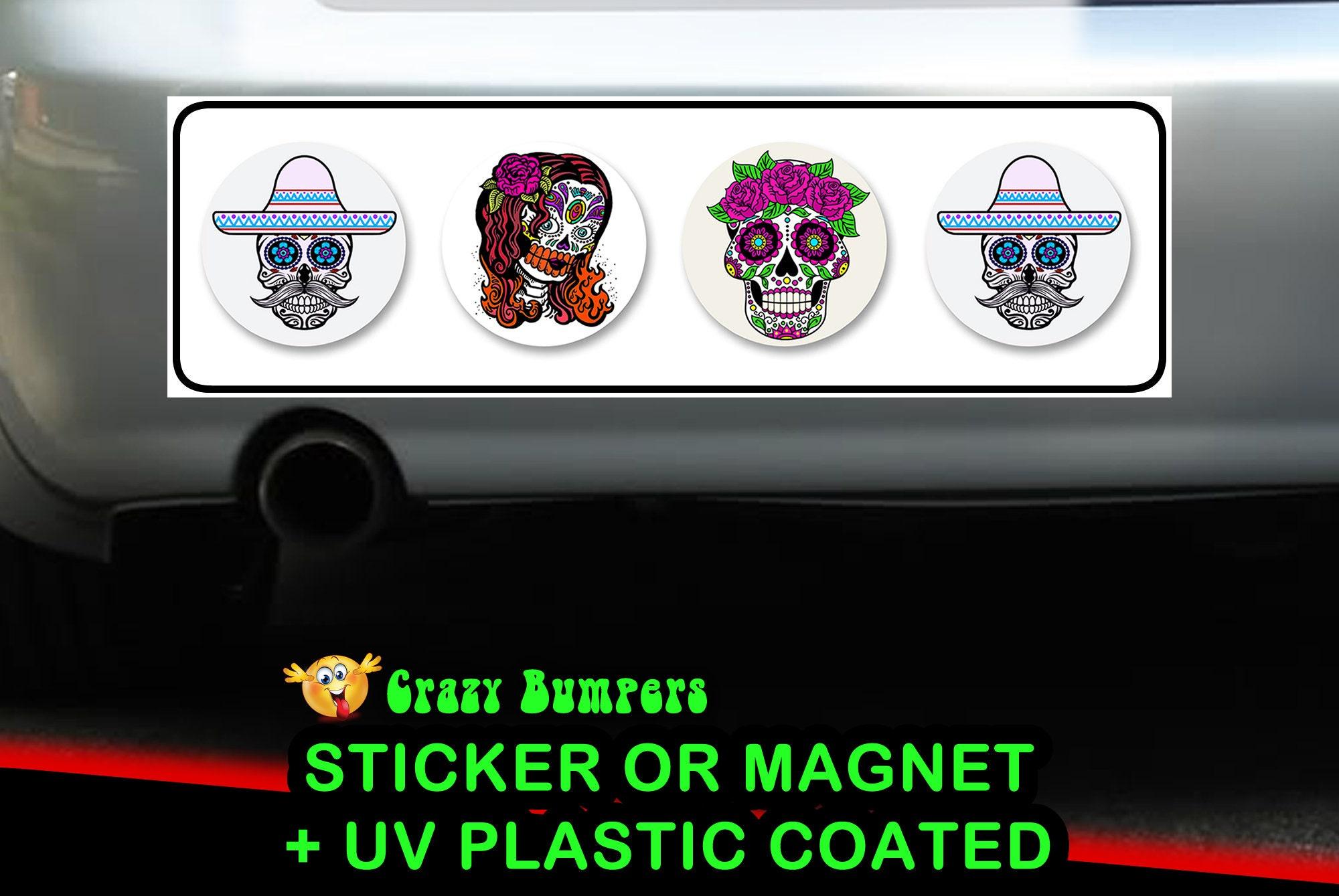CAD$7.99 - Skull Candy Bumper Sticker 10 x 3 Bumper Sticker or Magnetic Bumper Sticker Available