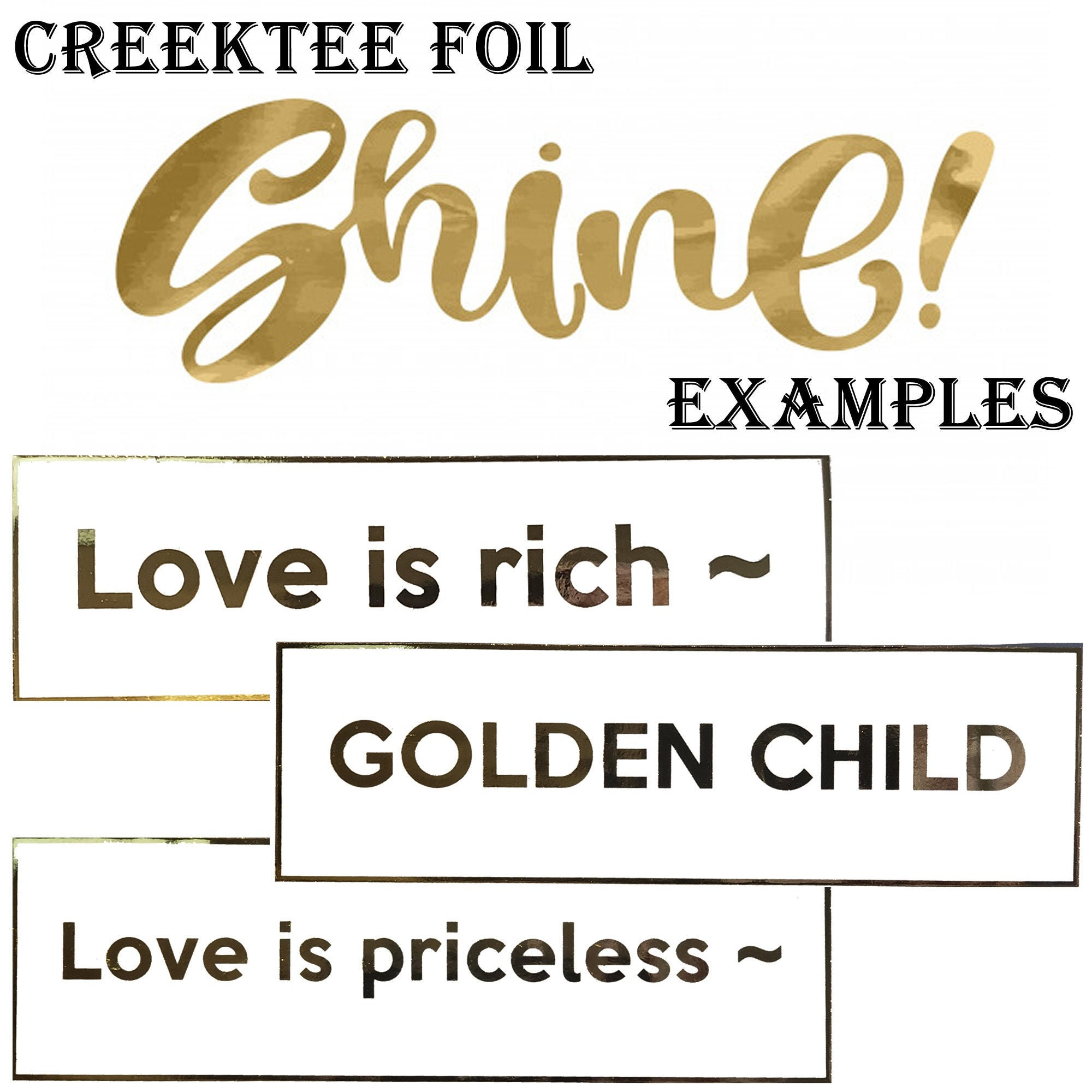 CAD$9.74 - FOIL SHINE Custom text  10 x 3 Bumper Sticker or Magnetic Bumper Sticker Available