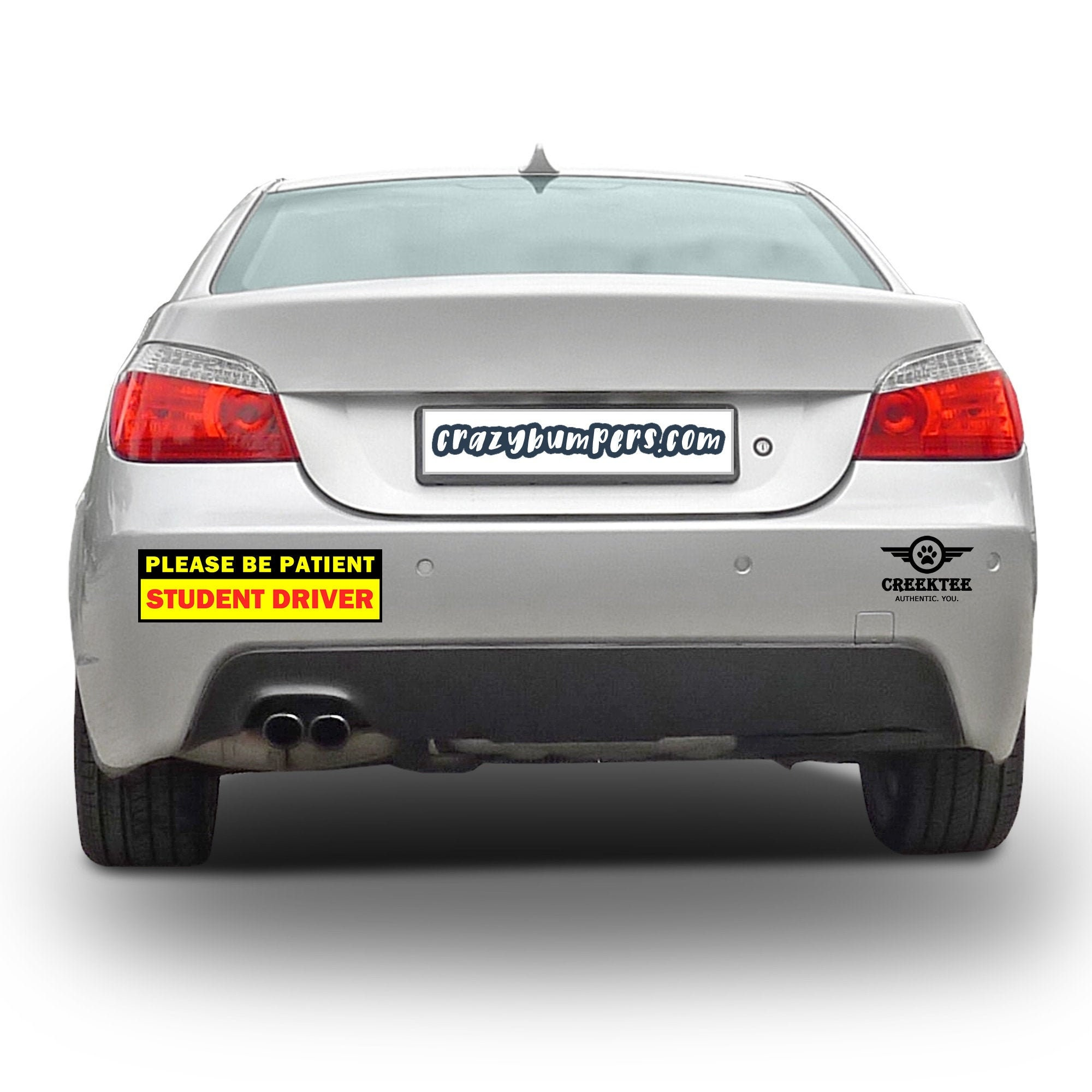 CAD$13.94 - 2X Bundle - Please Be Patient Student Driver Bumper Sticker 10 x 3 Bumper Sticker or Magnetic Bumper Sticker Available
