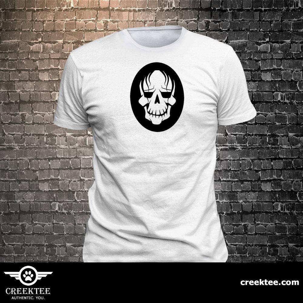 CAD$19.99 - Skull long lasting vinyl print tee - Funny t-shirt, fun tshirt, Customize your t-shirt... Ask us!