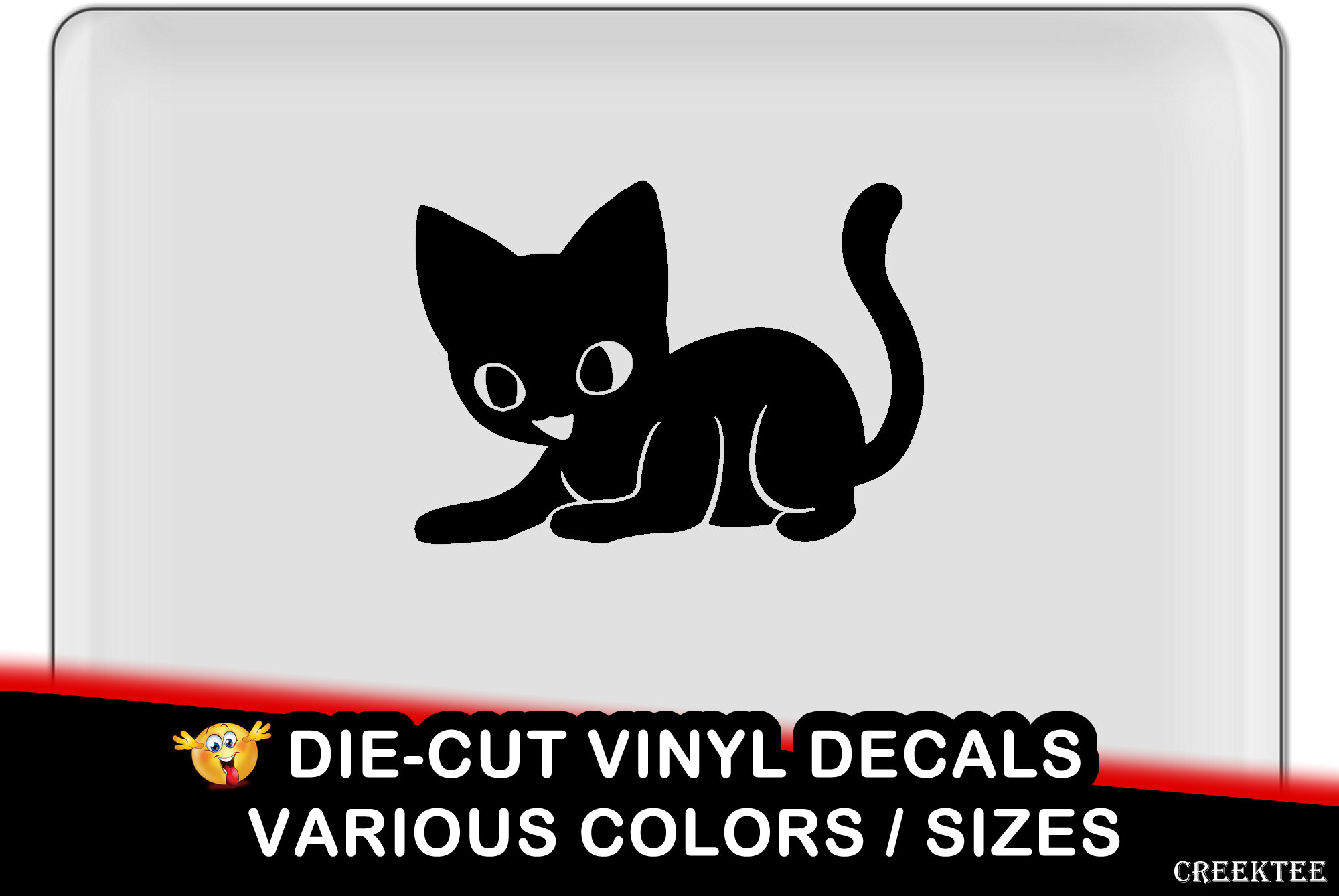 Kitten Cat Vinyl Decal - fun vinyl decal in various colors