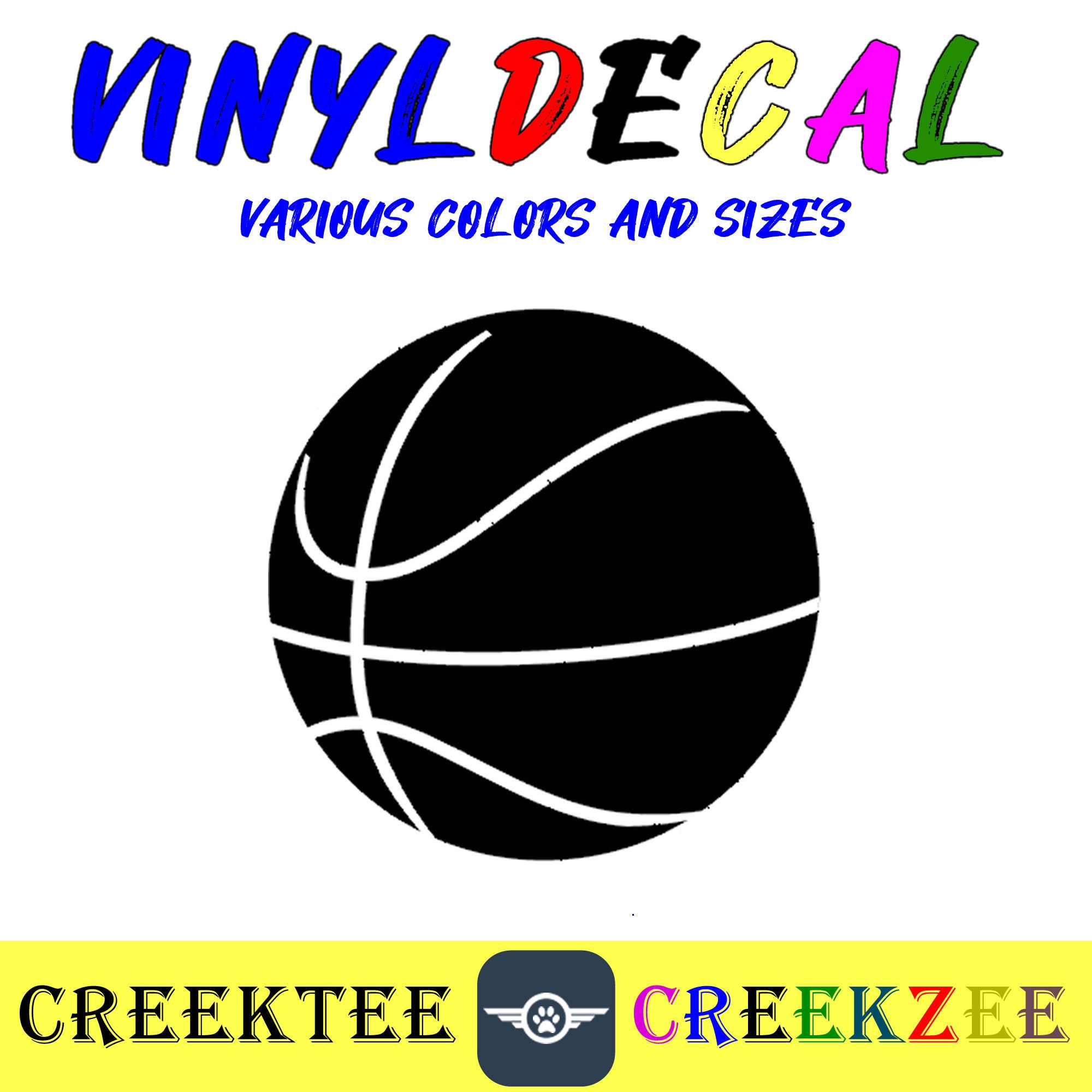 CAD$8.69 - Basket Ball vinyl decal in various sizes or colors