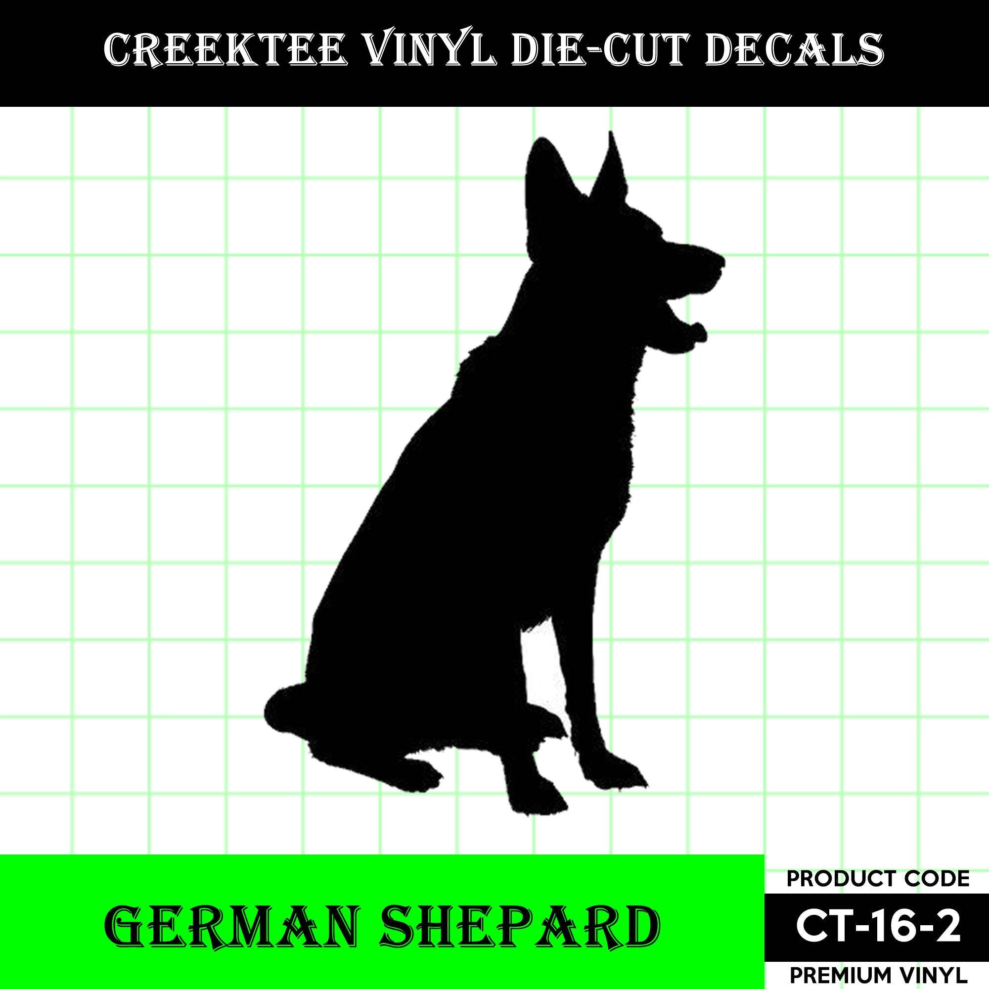 CAD$8.69 - German Shepard Sitting Die Cut Dog vinyl decal - Dog Decal