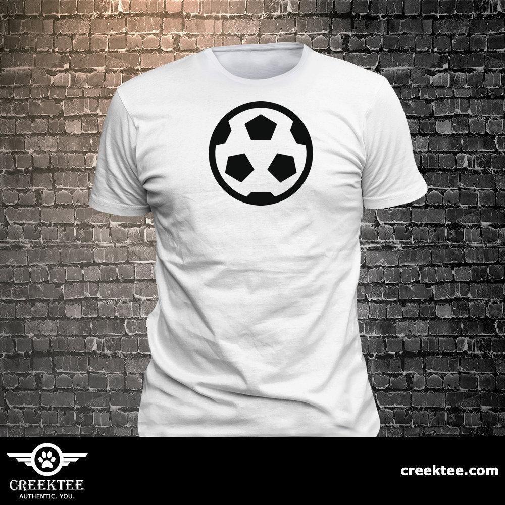 CAD$19.99 - Vinyl Print Soccer Ball Icon T-shirt   Gift Funny - 1906-R - Funny t-shirt, fun tshirt, Customize your t-shirt... Ask us!