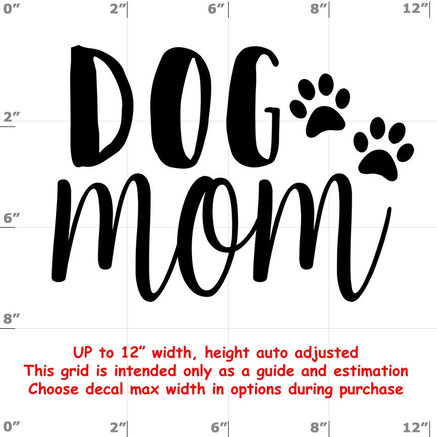 dog mom Dog vinyl decal - Dog Decal