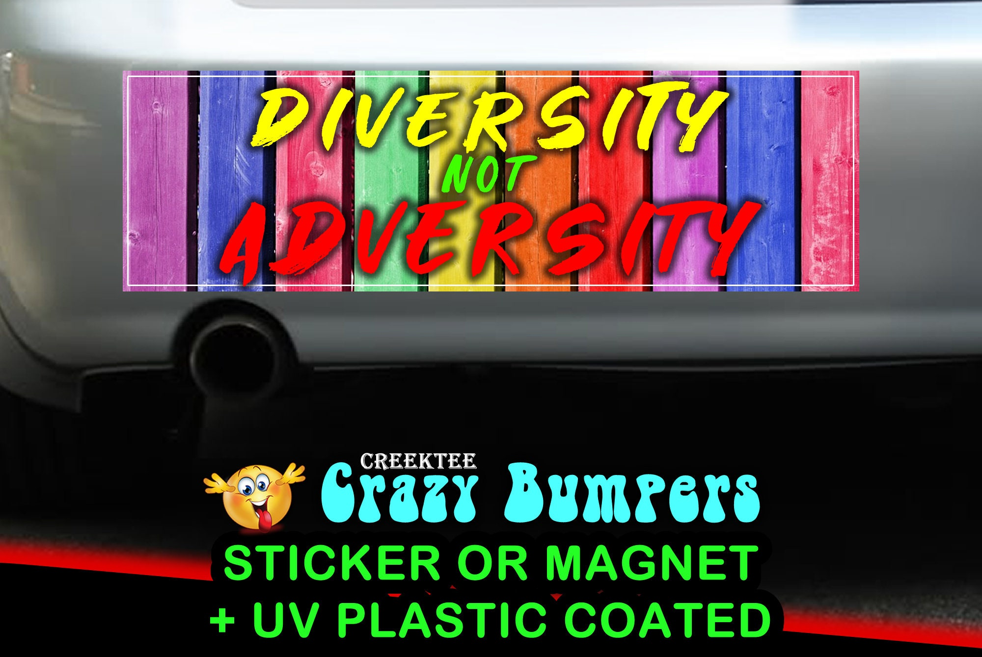 CAD$9.74 - Diversity Not Adversity 10 x 3 Bumper Sticker or Magnetic Bumper Sticker Available