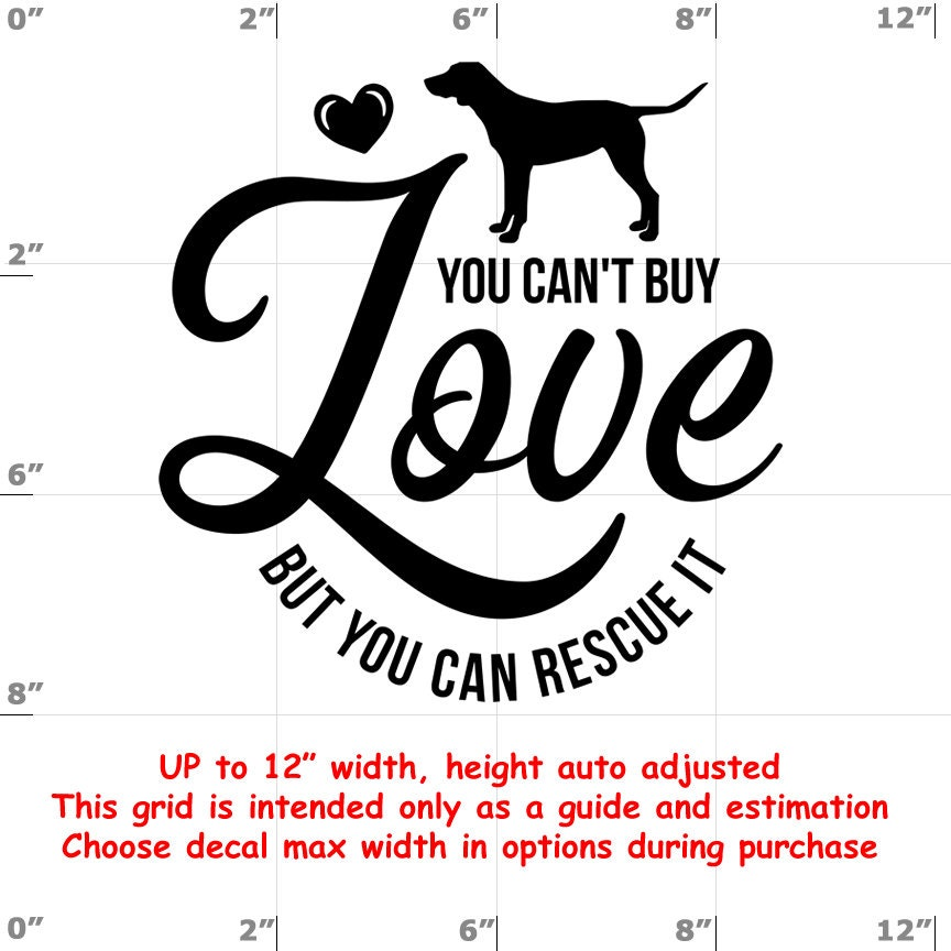 CAD$8.69 - you can't buy love but you can rescue it Dog vinyl decal - Dog Decal