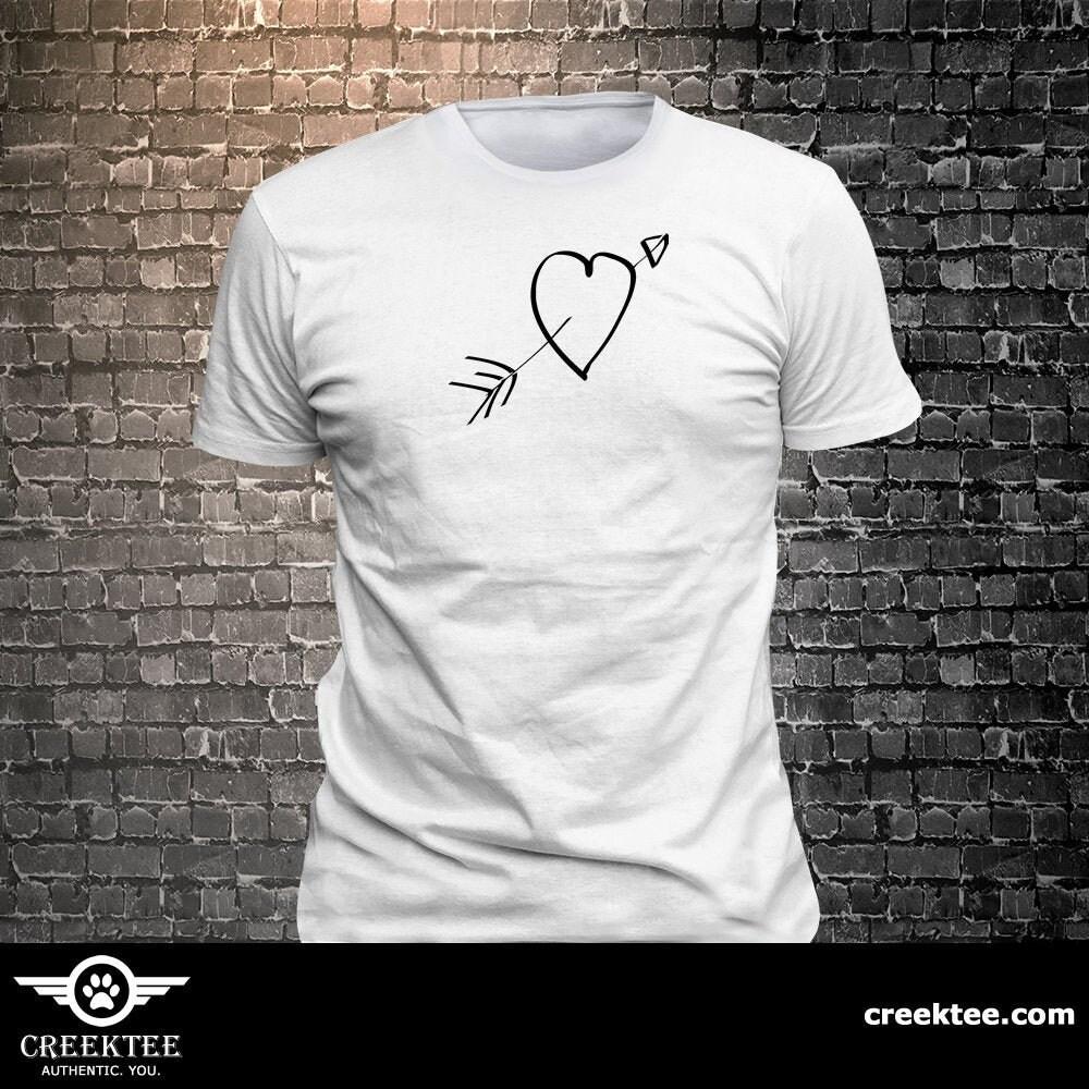 CAD$29.99 - Heart love long lasting vinyl print t-shirt - Funny t-shirt, fun tshirt, Customize your t-shirt... Ask us!