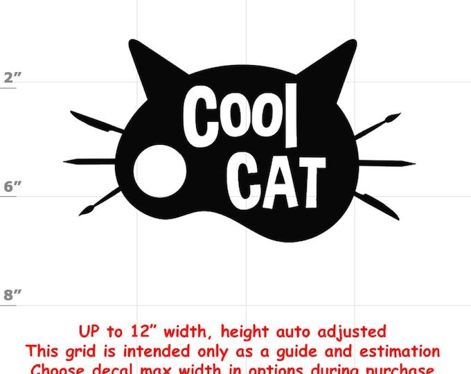 cool cat Vinyl  Funny Cat Decal