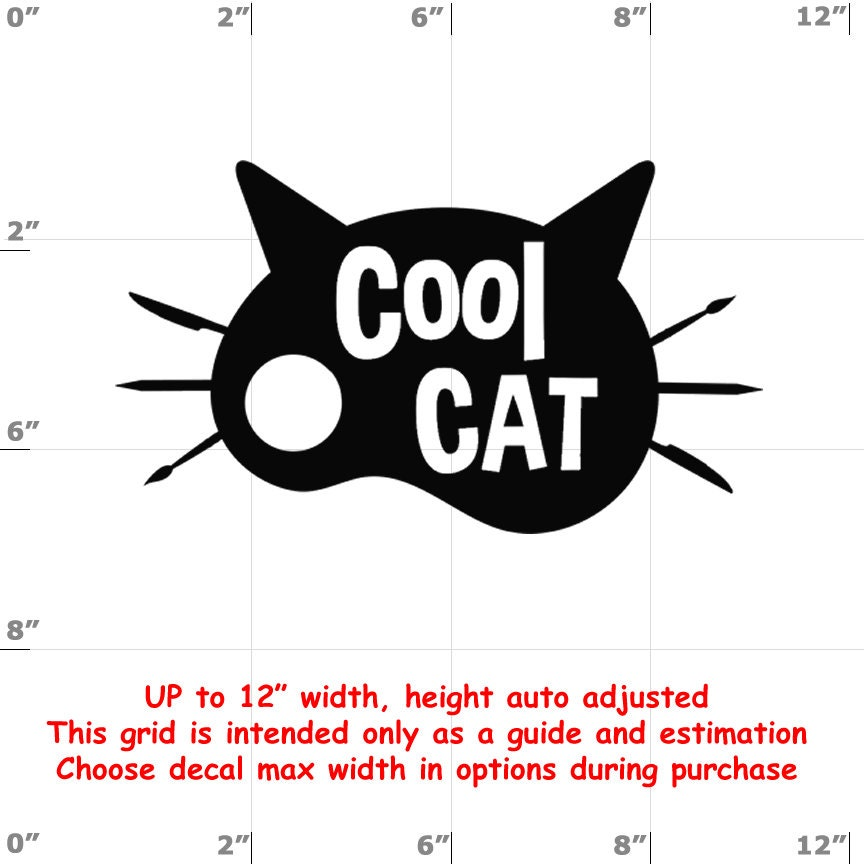 CAD$8.69 - cool cat Vinyl  Funny Cat Decal
