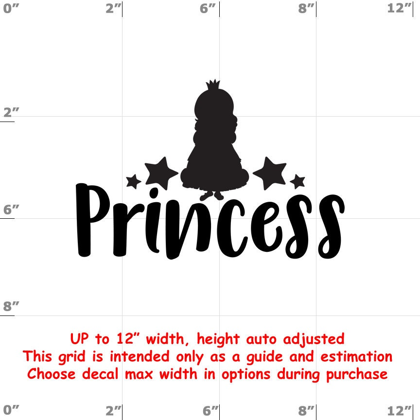 CAD$6.99 - Princess - Fun Decals various sizes and colors - colours