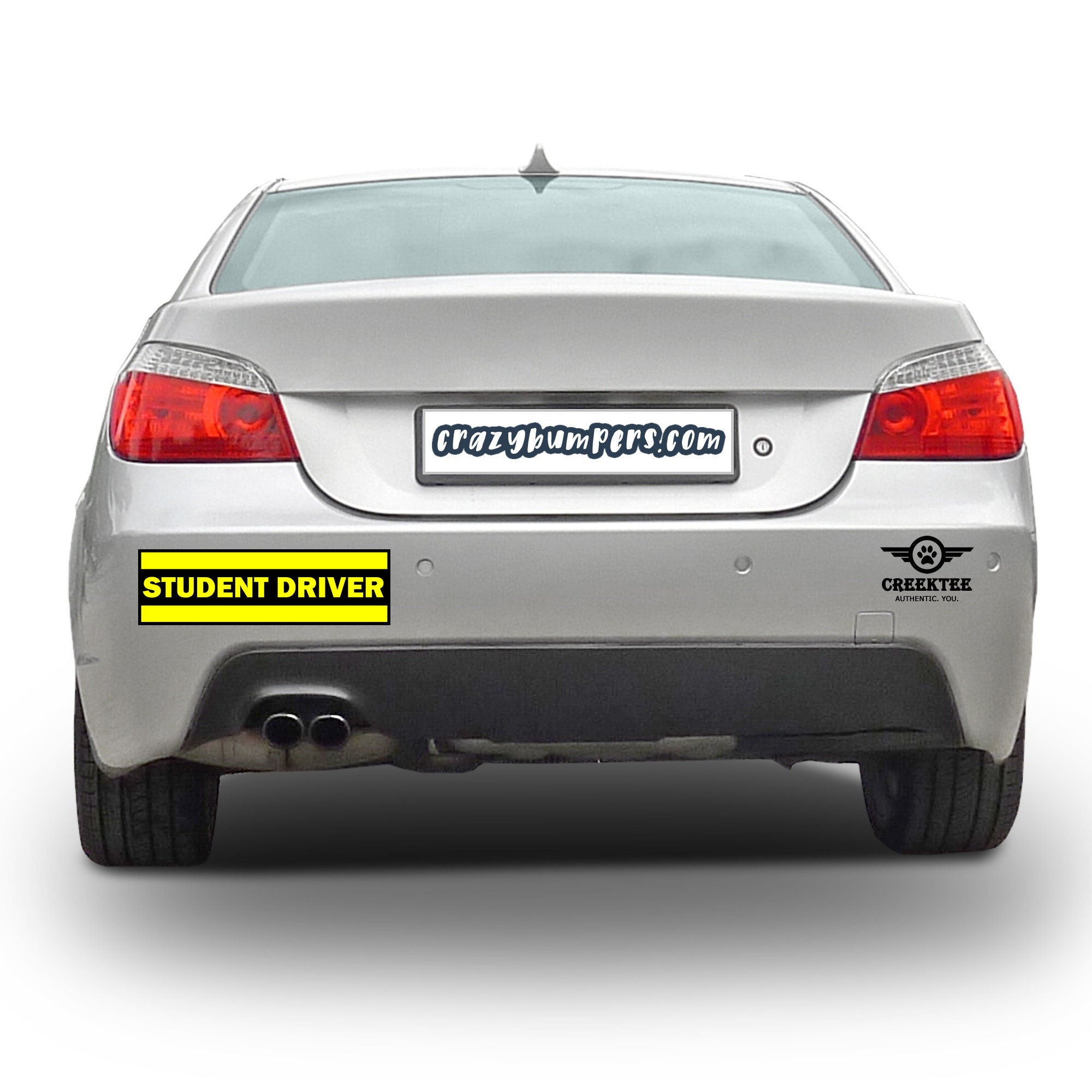 CAD$7.99 - STUDENT DRIVER YELLOW 10 x 3 Bumper Sticker or Magnetic Bumper Sticker Available