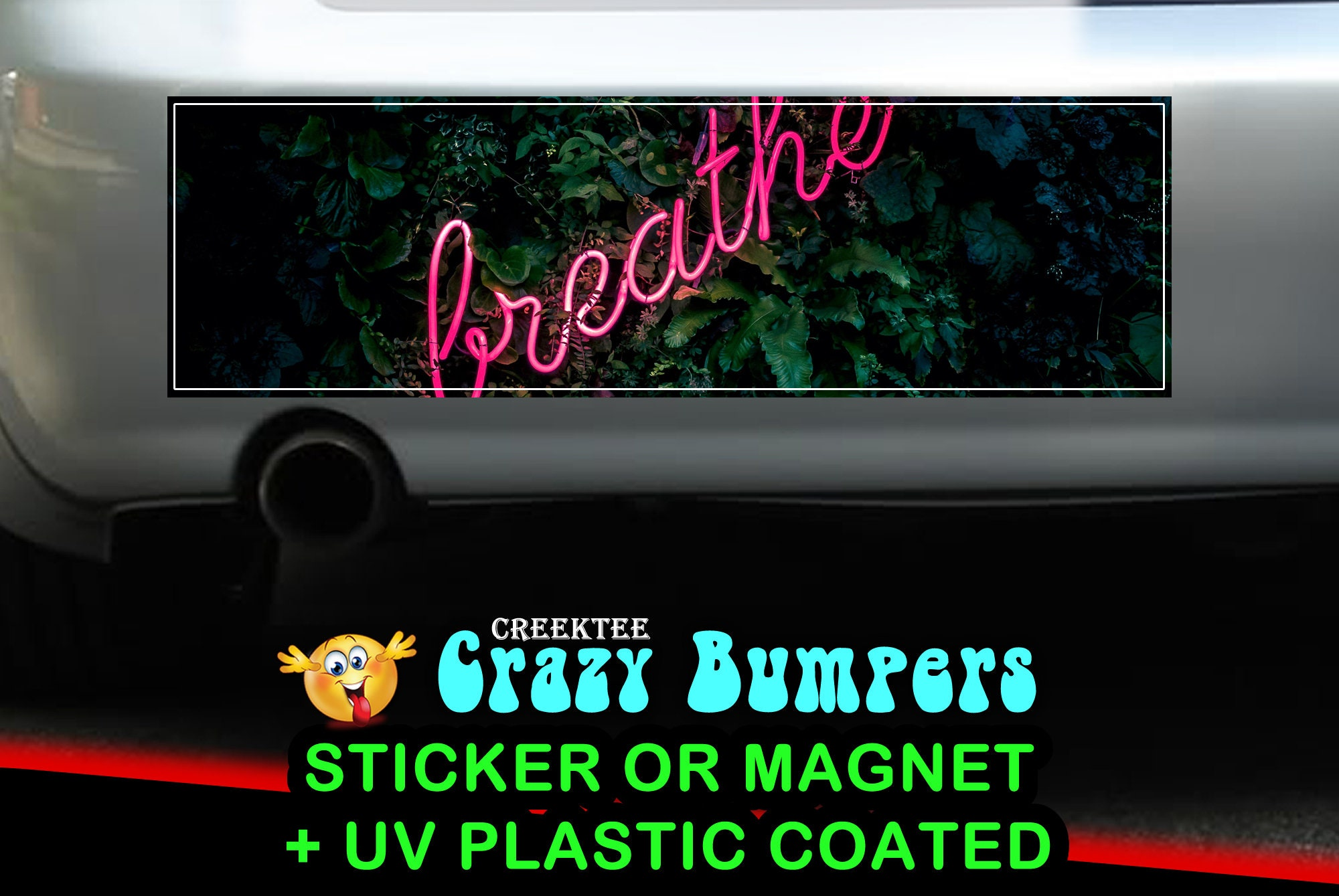 CAD$9.74 - Breathe 10 x 3 Bumper Sticker or Magnet - Custom changes and orders welcomed!