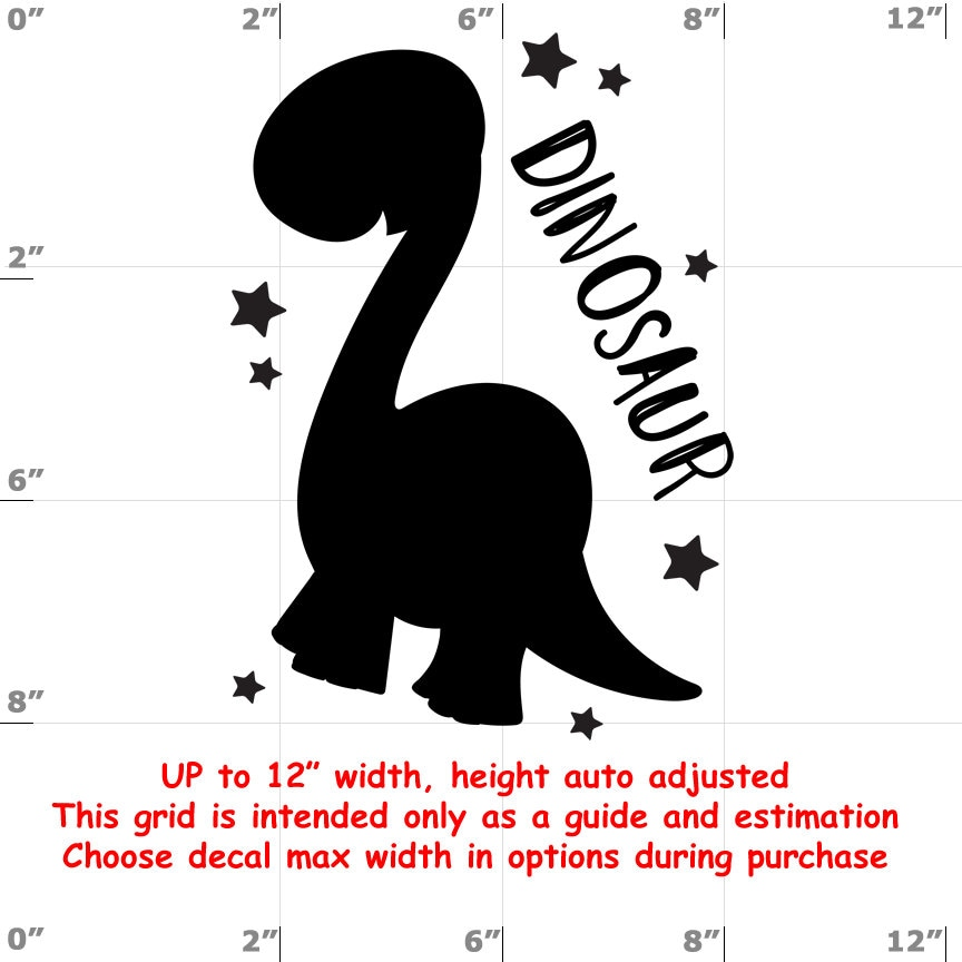 Dinosaur - Fun Decals various sizes and colors - colours