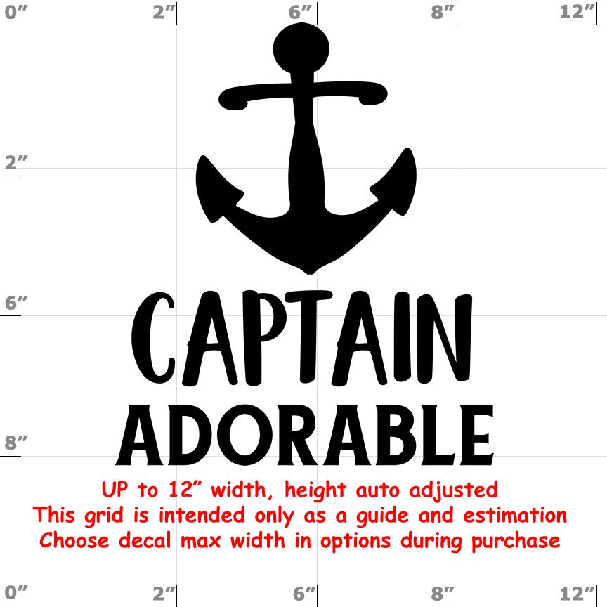 Captain Adorable - Fun Decals various sizes and colors - colours