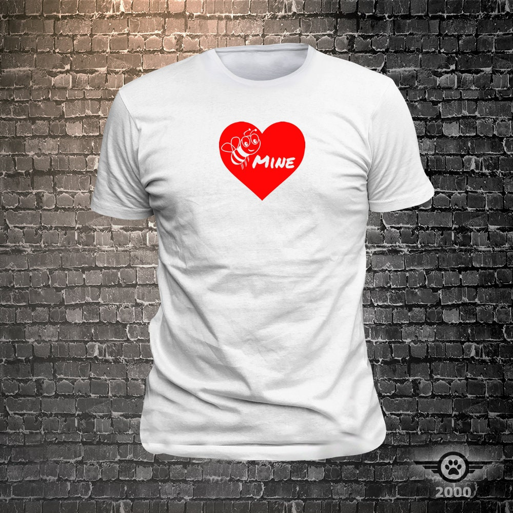 CAD$29.99 - Bee Mine Love Tshirt funny tees Unisex Cool Funny T-Shirts Fun Wear