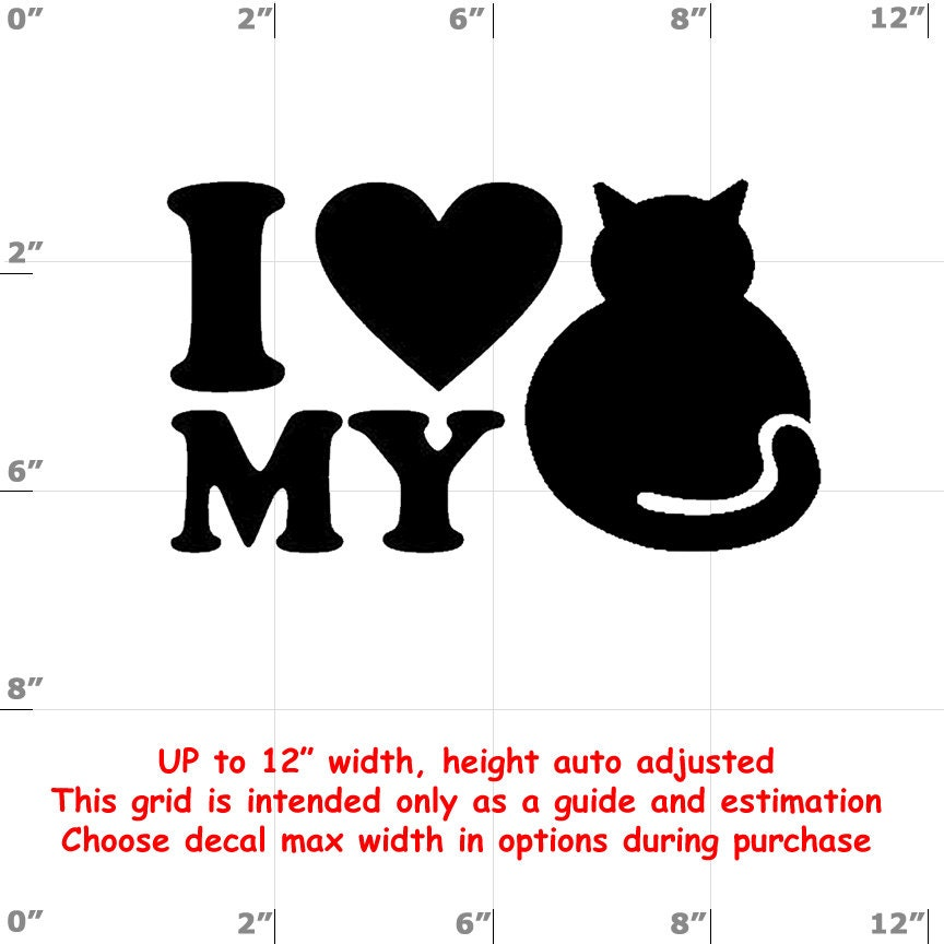 CAD$6.99 - i love my cat Vinyl  Funny Cat Decal