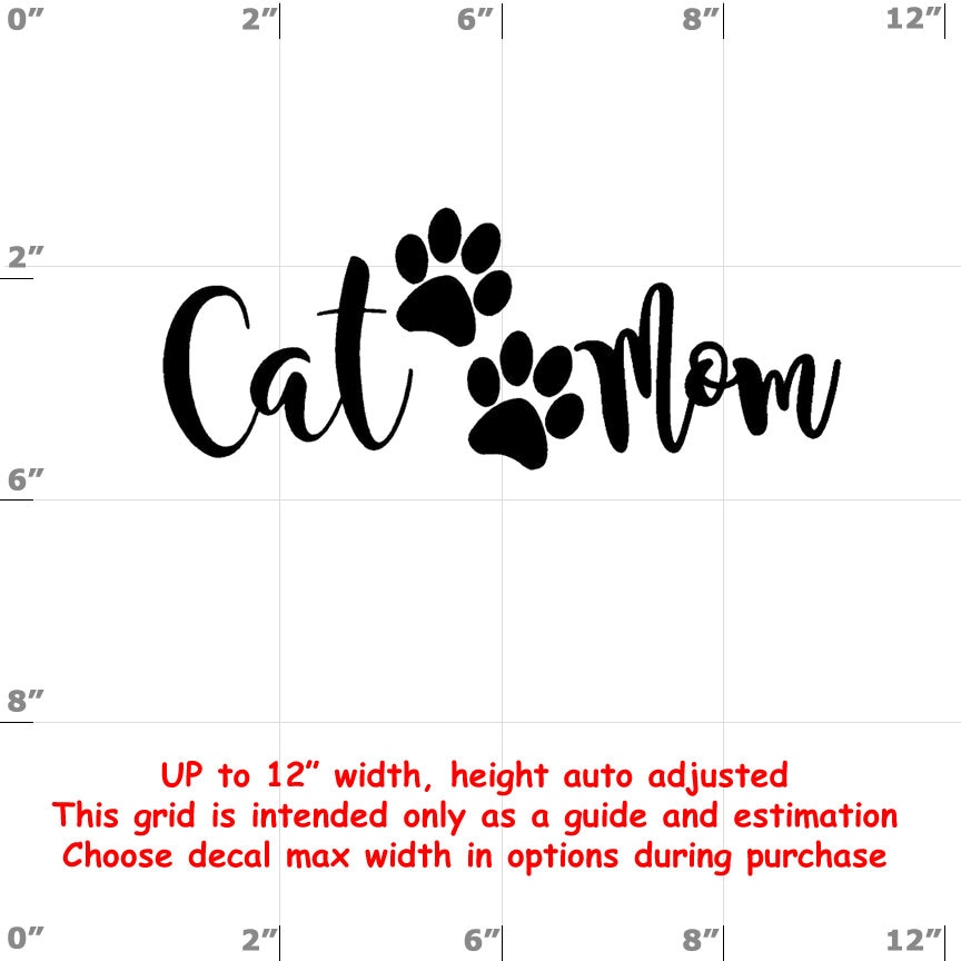 CAD$8.99 - cat mom Vinyl  Funny Cat Decal