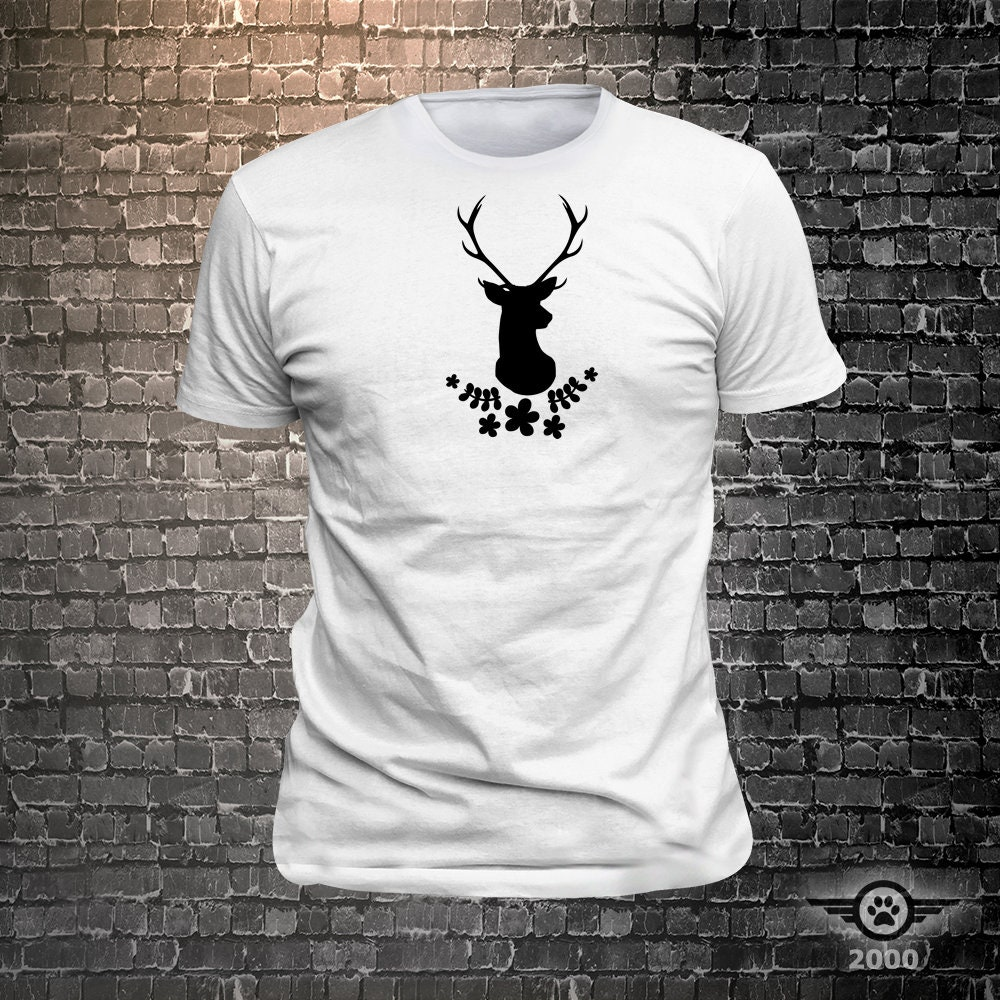 CAD$29.99 - Vinyl Print Antlers - Fun Wear T-Shirt  - Unisex Funny Sayings and T-Shirts Cool Funny T-Shirts Fun Wear
