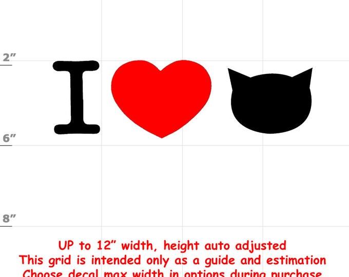 i heart cats i love cats Vinyl  Funny Cat Decal