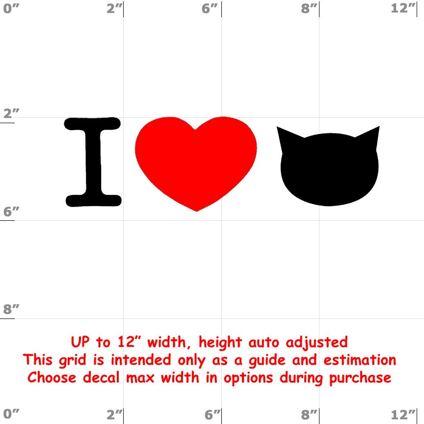 CAD$6.99 - i heart cats i love cats Vinyl  Funny Cat Decal